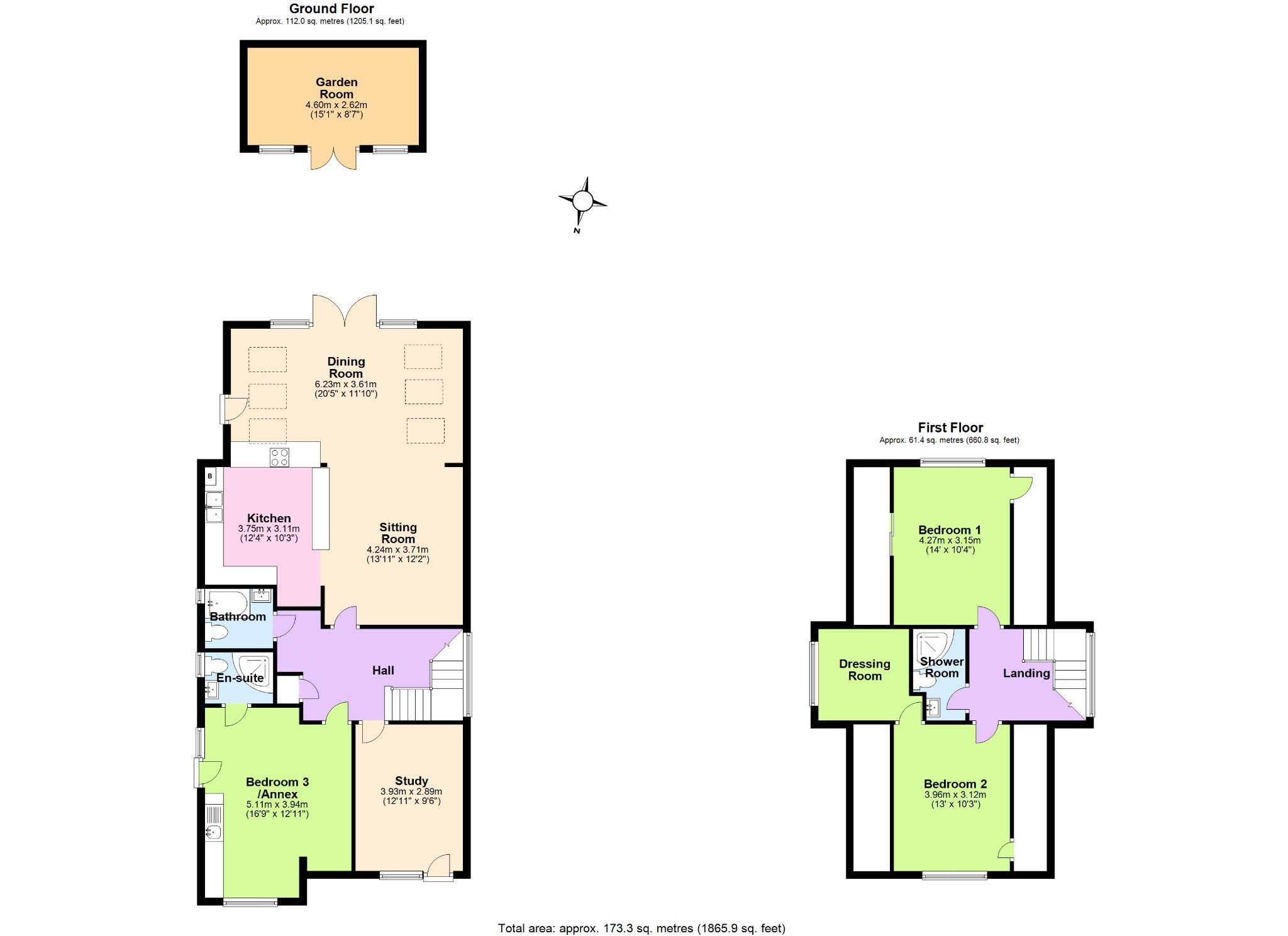 4 Bedroom Detached Bungalow For Sale - Floorplan 1
