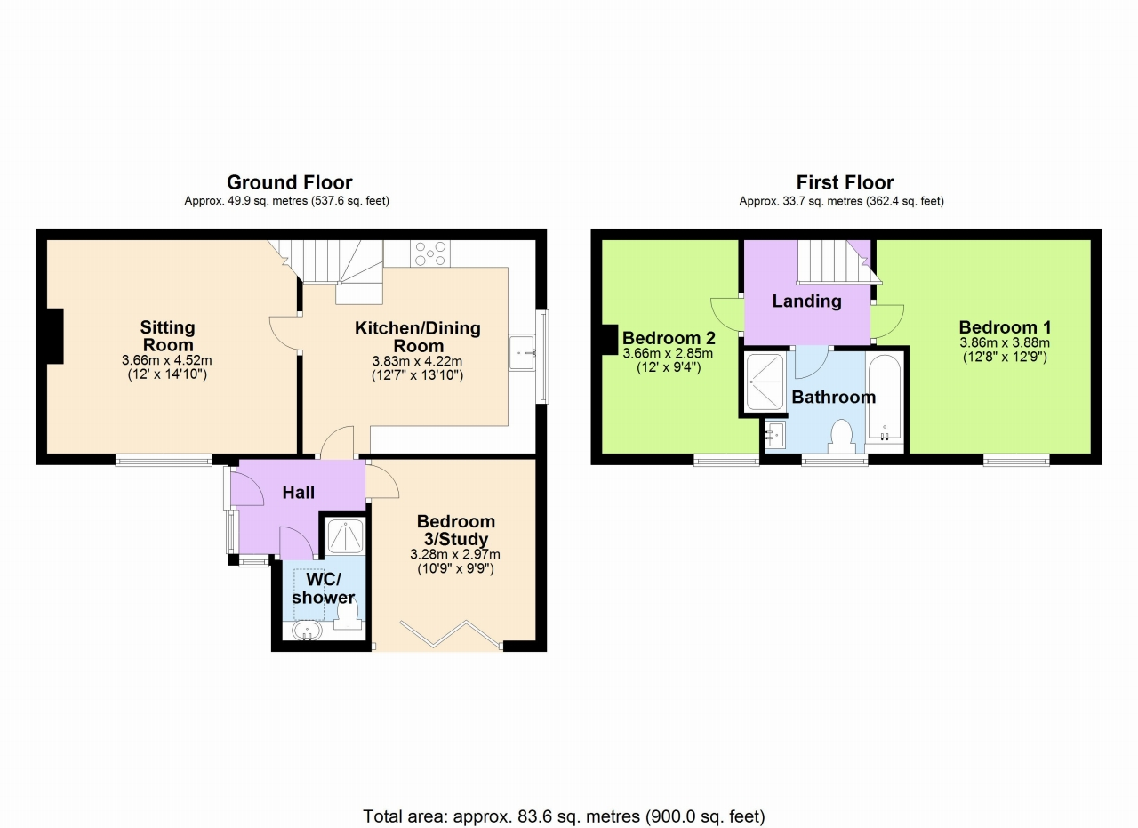 3 Bedroom Cottage House For Sale - Floorplan 1