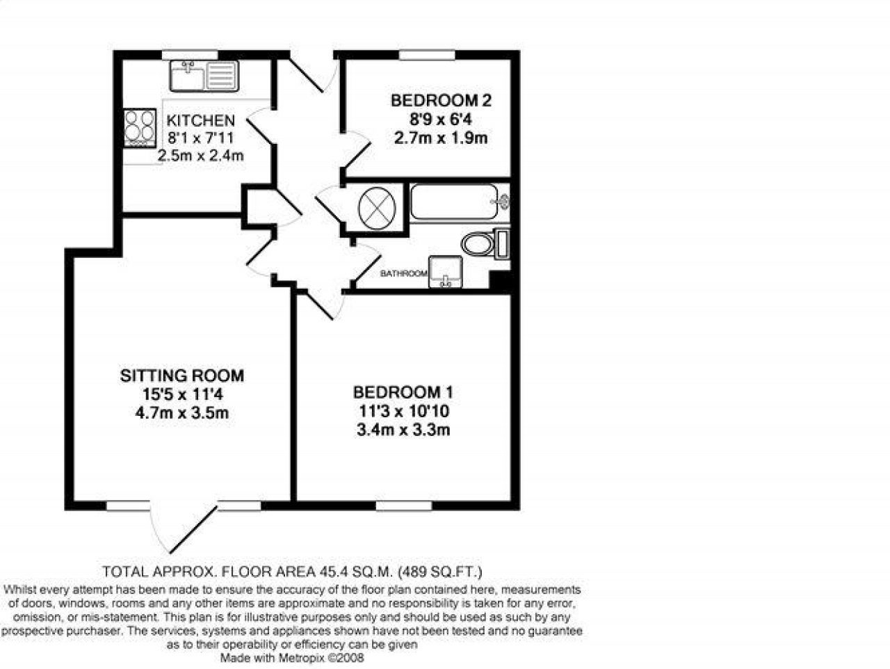2 Bedroom Apartment Flat/apartment To Rent - Floorplan 1