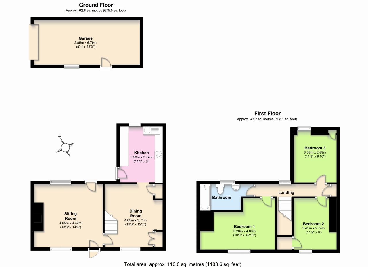 3 Bedroom Cottage House For Sale - Floorplan 1