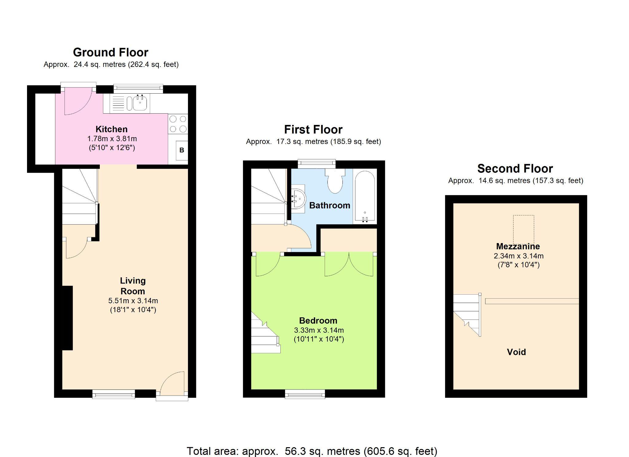 1 Bedroom Cottage House To Rent - Floorplan 1