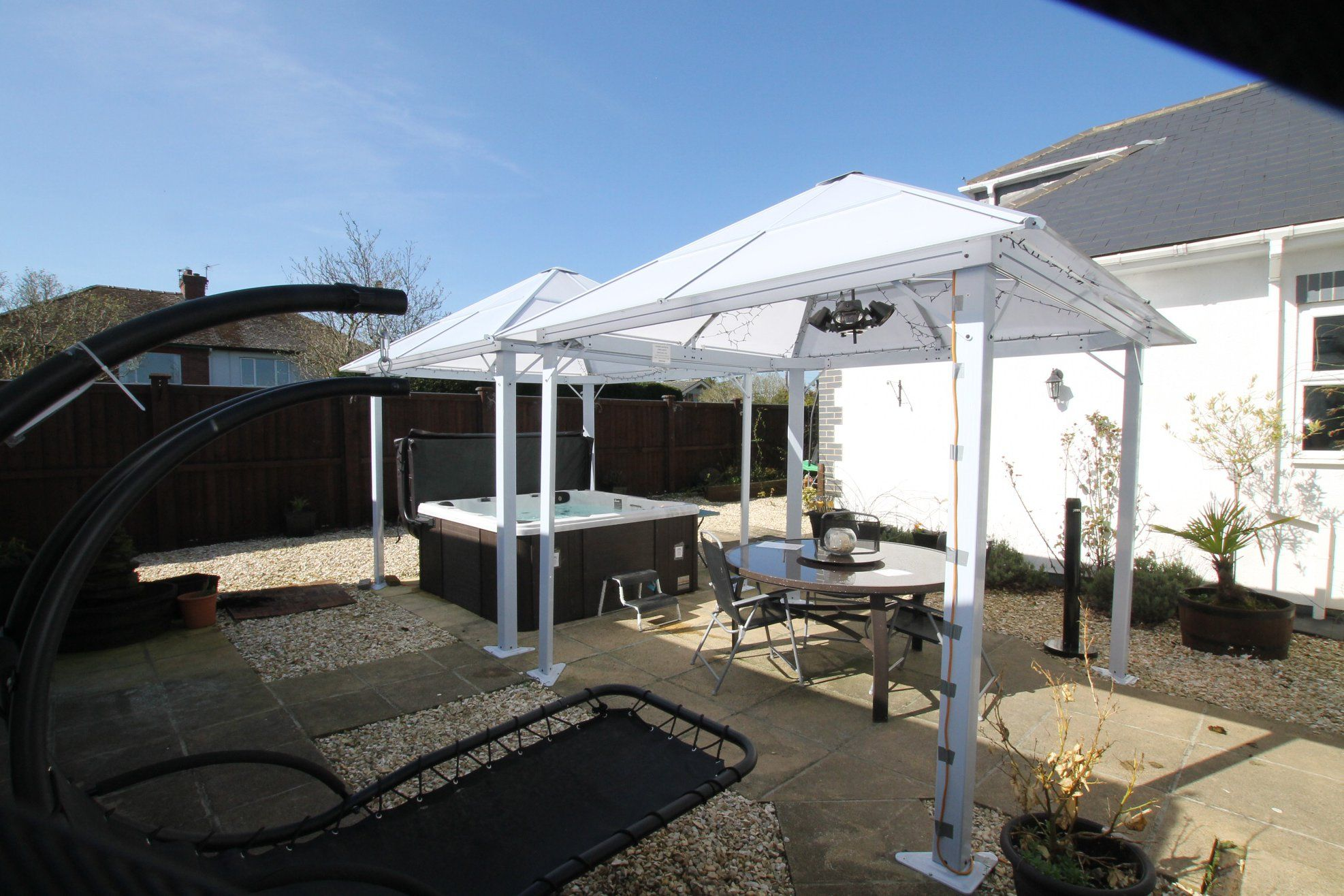 5 bedroom detached bungalow Sale Agreed in Crook - Rear Courtyard.