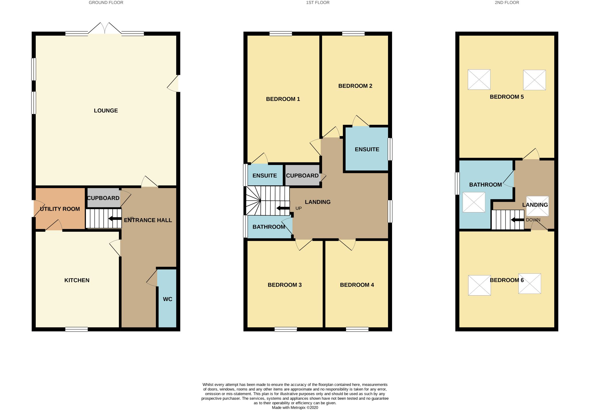 6 bedroom detached house For Sale in Bishop Auckland - Floorplan 1.