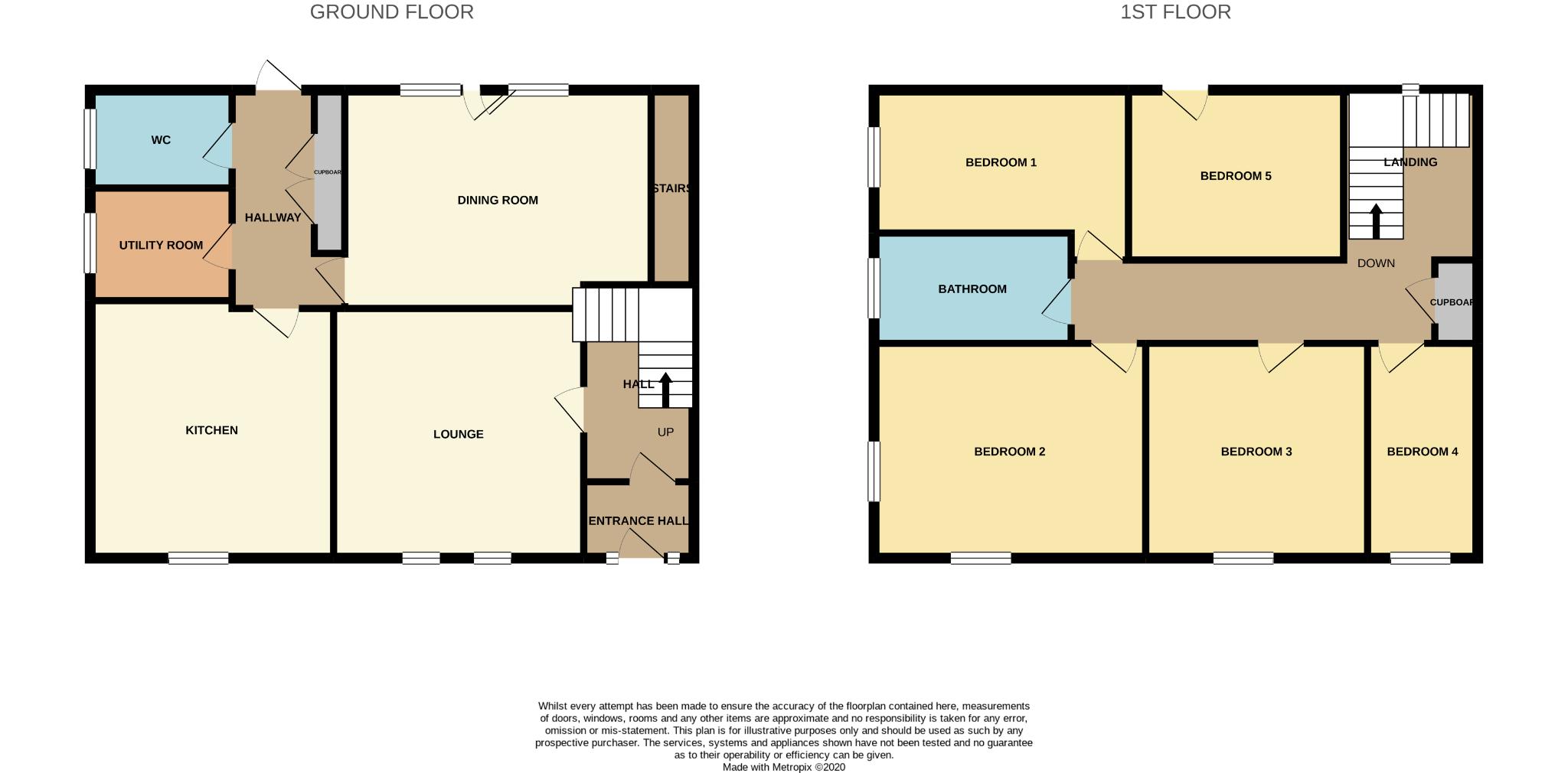 5 bedroom semi-detached house For Sale in Bishop Auckland - Floorplan 1.