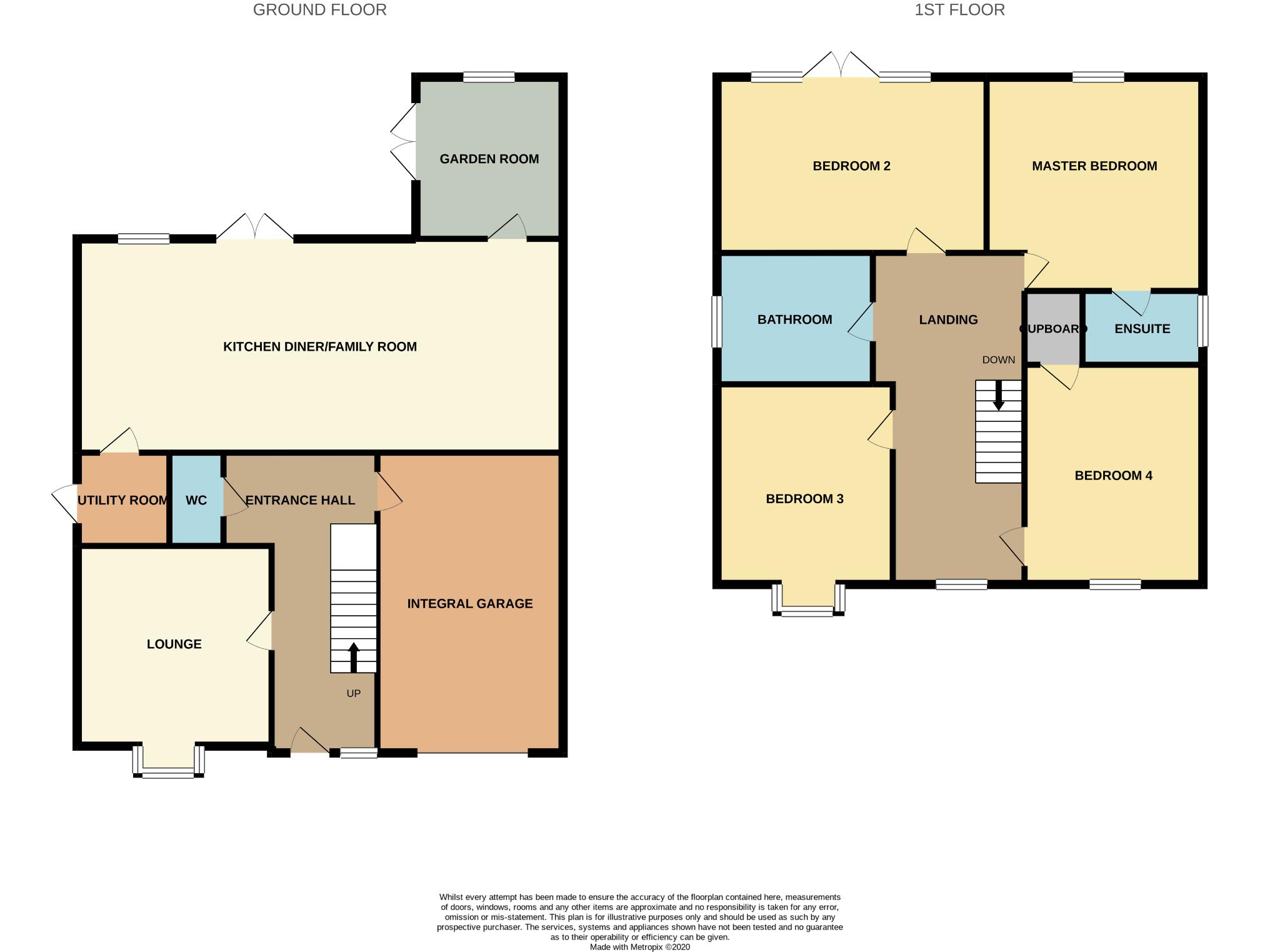 4 bedroom detached house For Sale in Bishop Auckland - Floorplan 1.