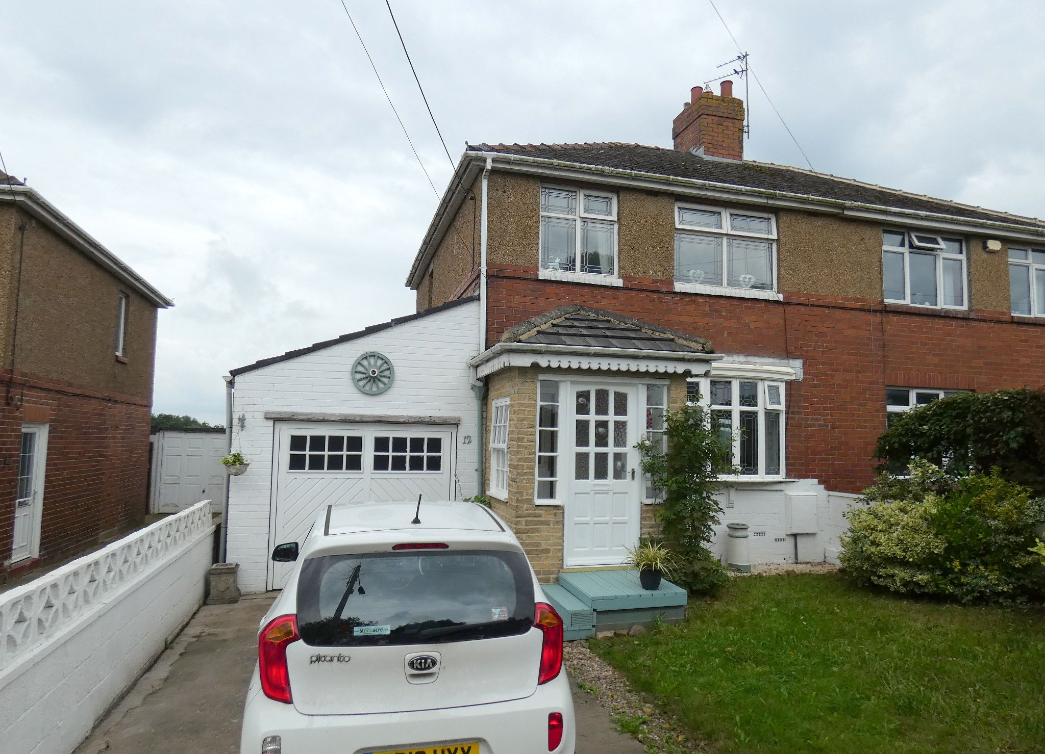 3 bedroom semi-detached house Sold in Newton Aycliffe - Front Elevation.