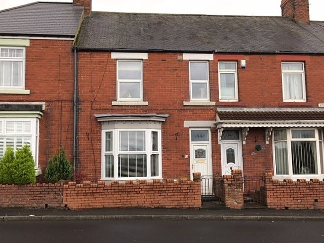 3 bedroom mid terraced house SSTC in Bishop Auckland - Front Elevation.