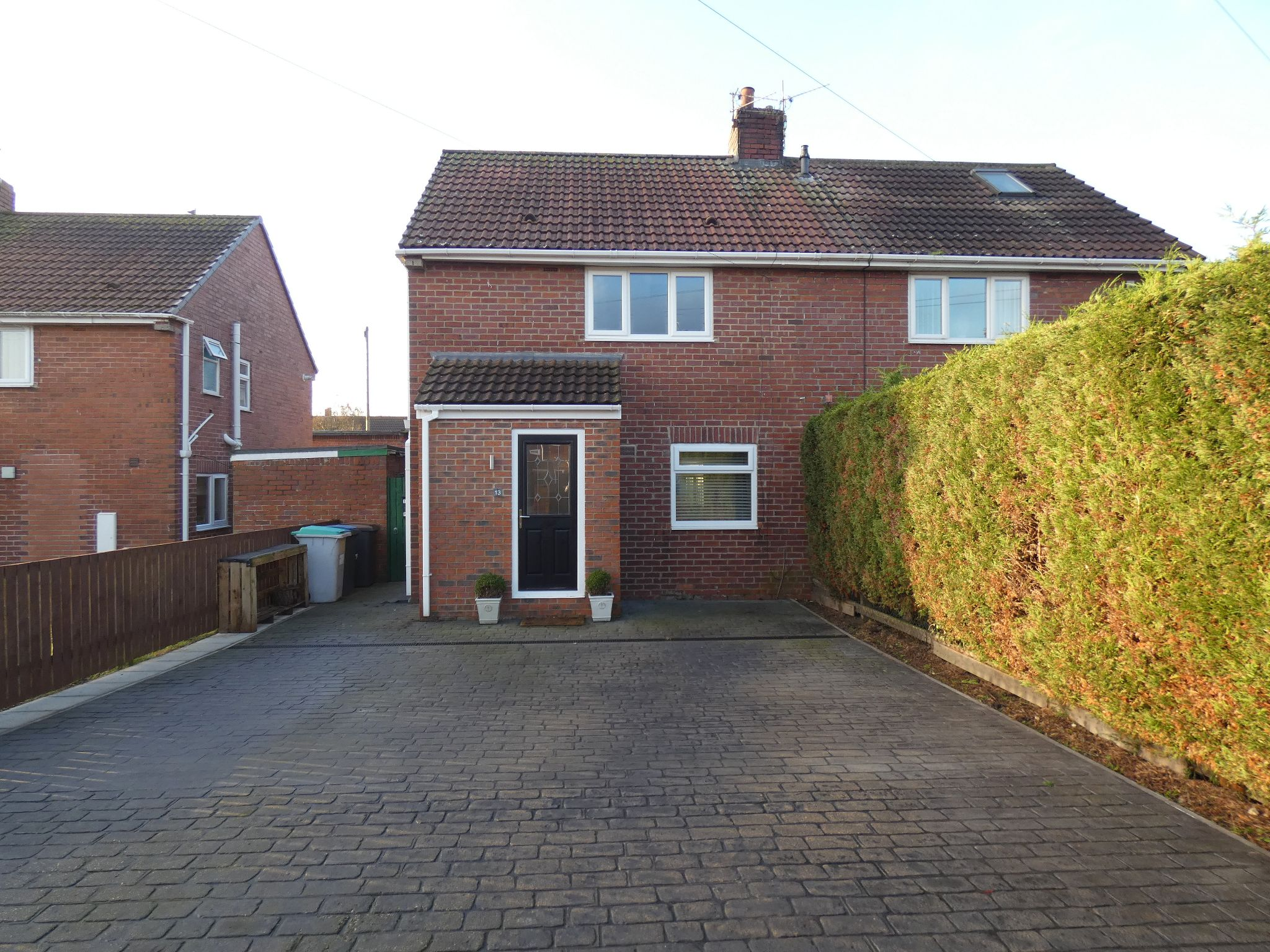 2 bedroom semi-detached house For Sale in Esh Winning - Front Elevation.