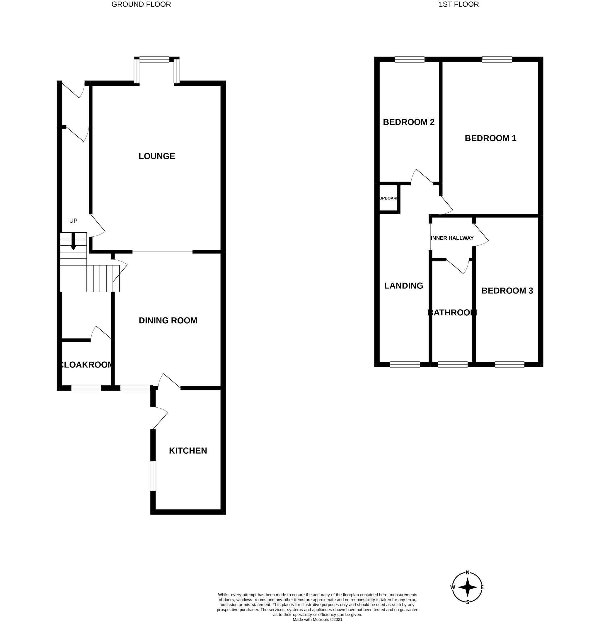 3 bedroom mid terraced house Sale Agreed in Bishop Auckland - Floorplan 1.