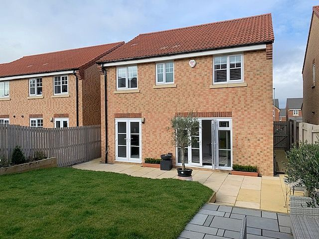 4 bedroom detached house For Sale in Stainton,  Middlesbrough - Rear Elevation.