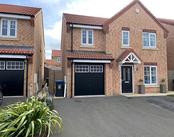 4 bedroom detached house For Sale in Stainton,  Middlesbrough - Front Elevation.