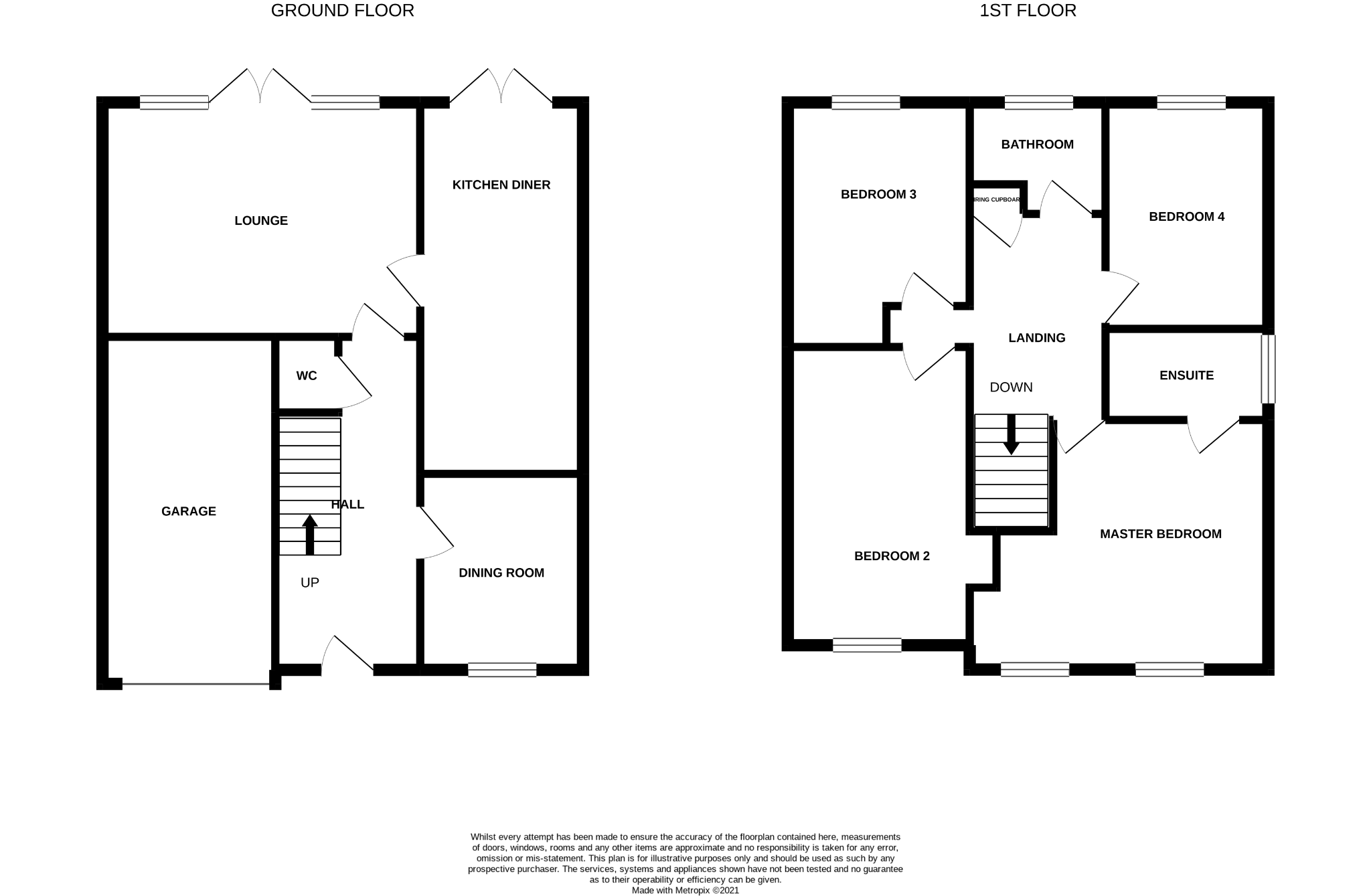 4 bedroom detached house For Sale in Stainton,  Middlesbrough - Floorplan 1.