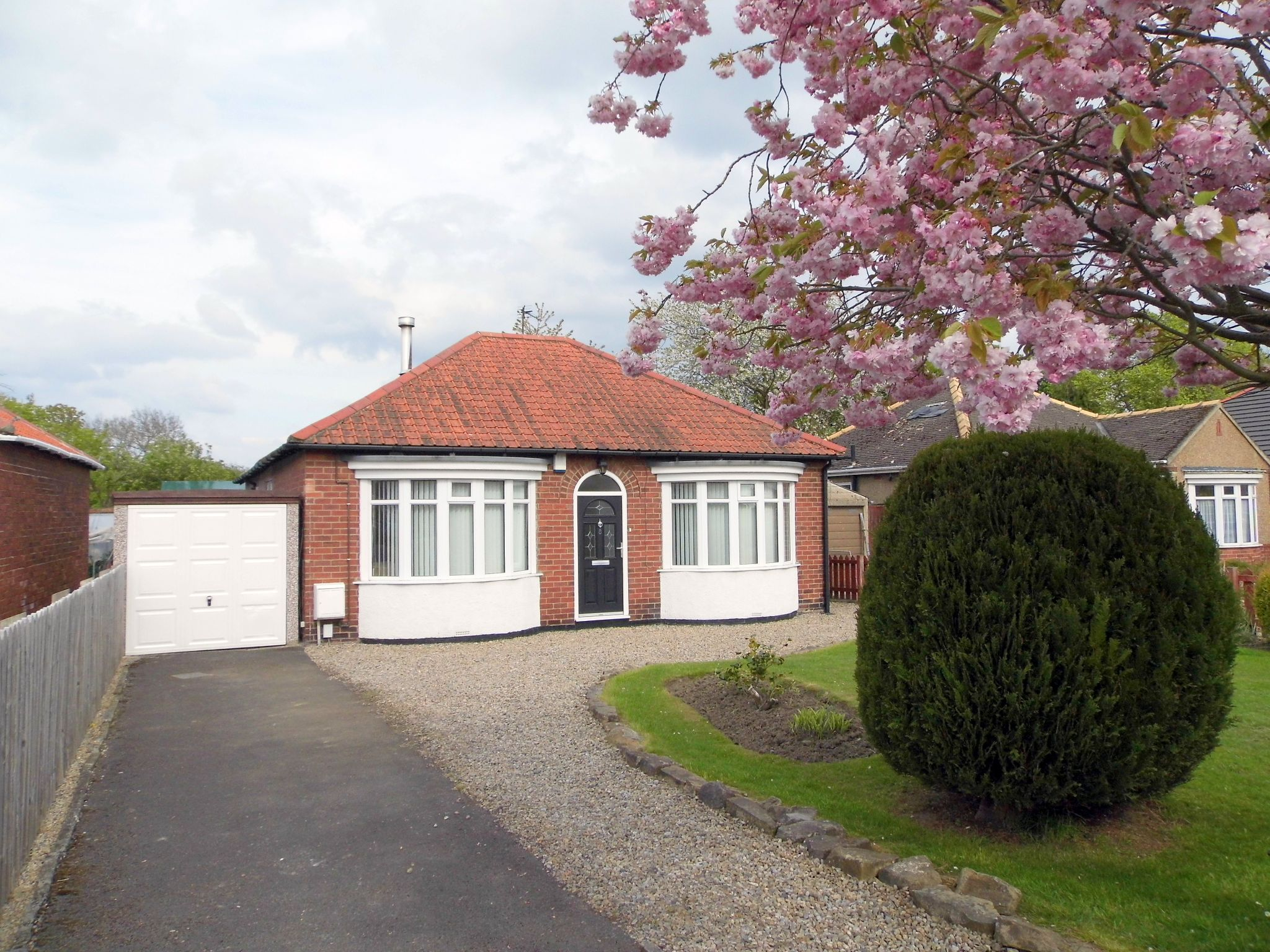 2 bedroom detached bungalow For Sale in Shildon - Front Elevation.