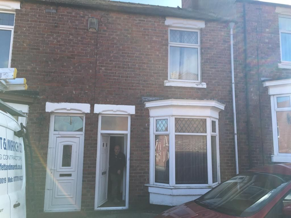 3 bedroom mid terraced house For Sale in Shildon - Front elevation.