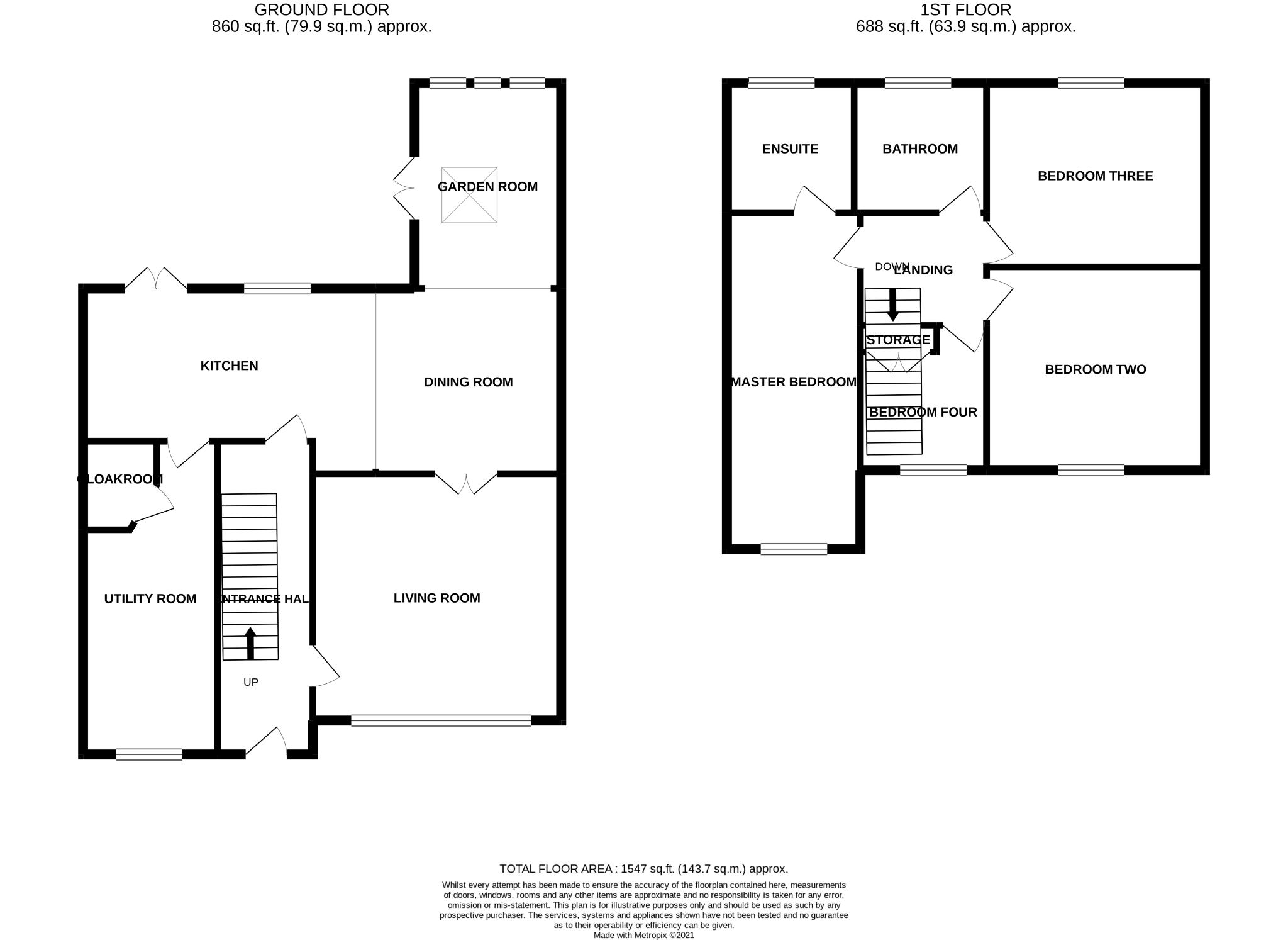 4 bedroom semi-detached house Sale Agreed in Bishop Auckland - Floorplan 1.