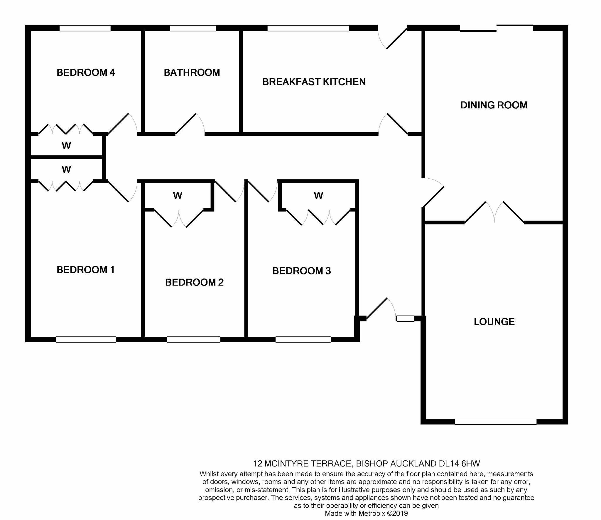 4 bedroom detached bungalow For Sale in Bishop Auckland - Floorplan 1.