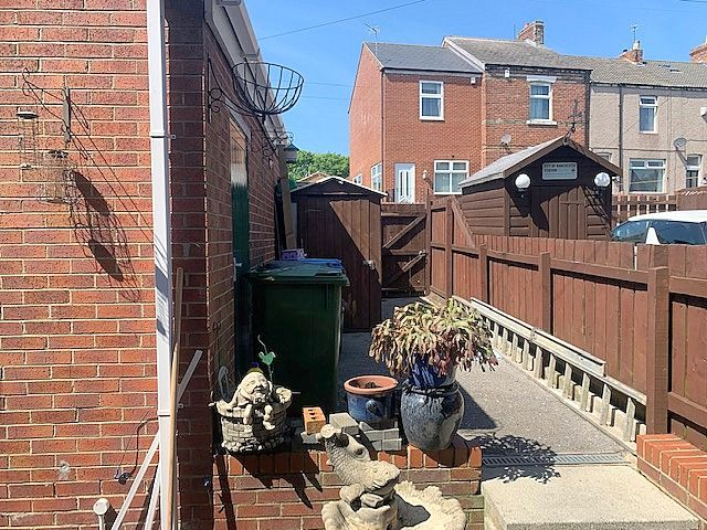 3 bedroom mid terraced house For Sale in Bishop Auckland - Rear Courtyard.