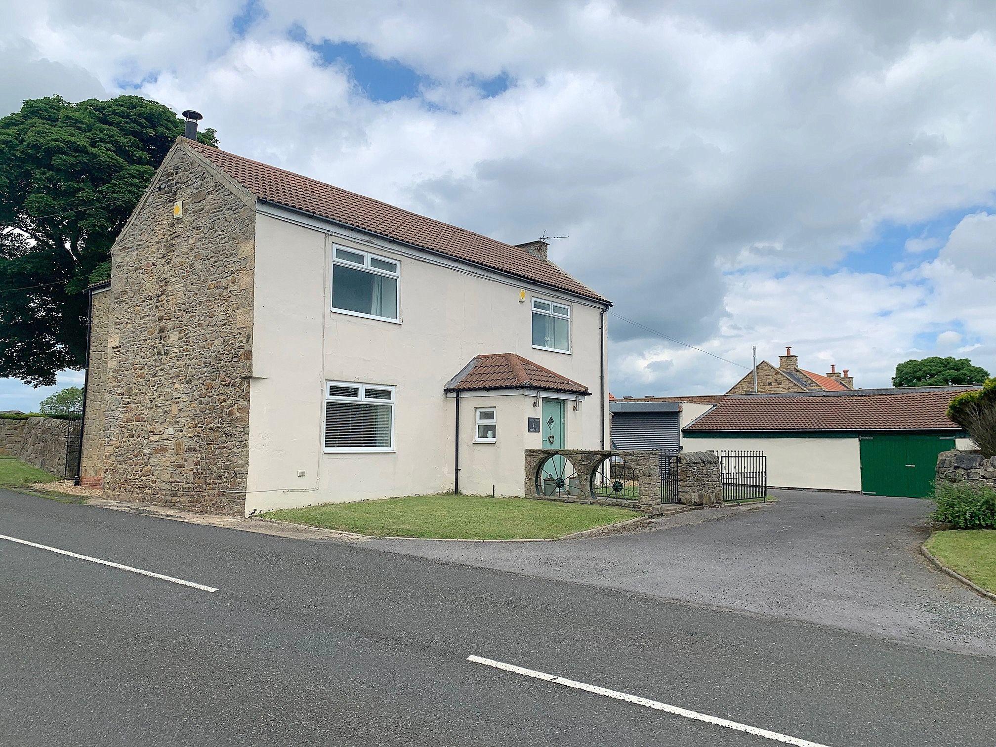 4 bedroom detached house Sale Agreed in Crook - Front Elevation.