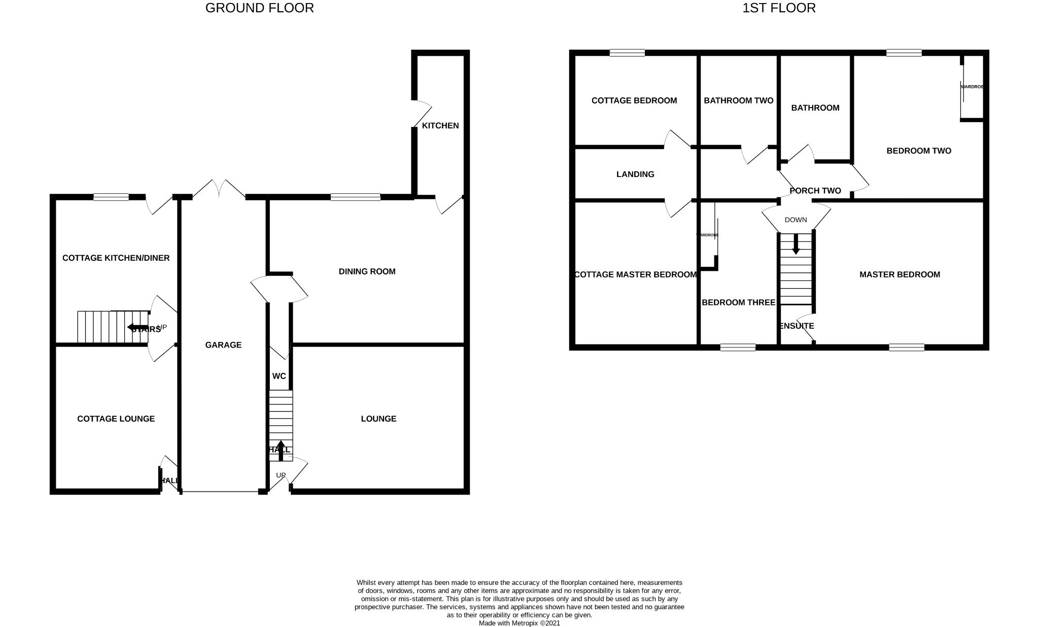 5 bedroom detached house For Sale in Witton Park, Bishop Auckland - Floorplan 1.