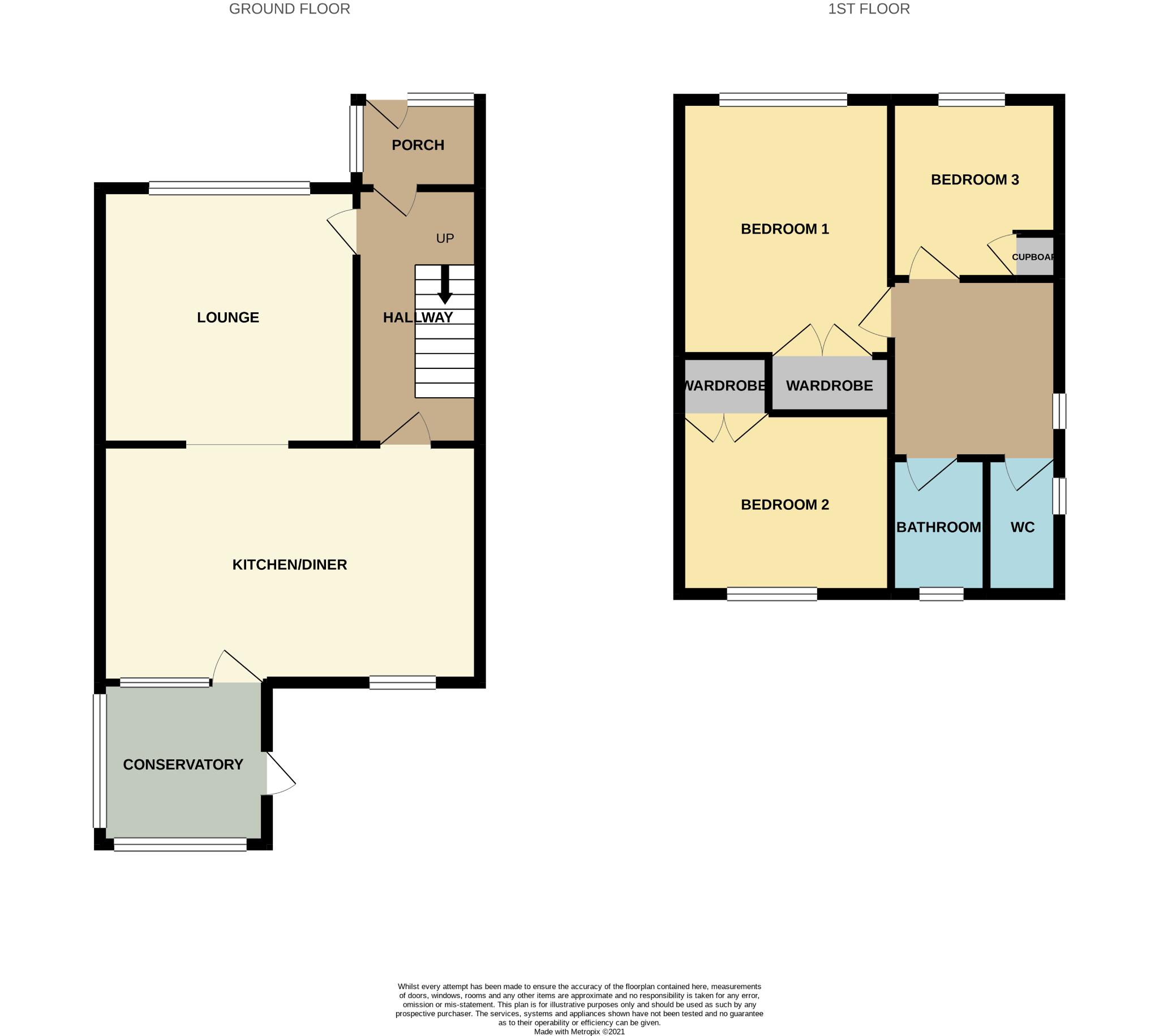 3 bedroom detached house For Sale in Heighington Village - Floor Plan.