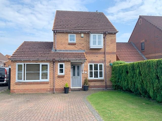 3 bedroom detached house For Sale in Newton Aycliffe - Front Elevation.