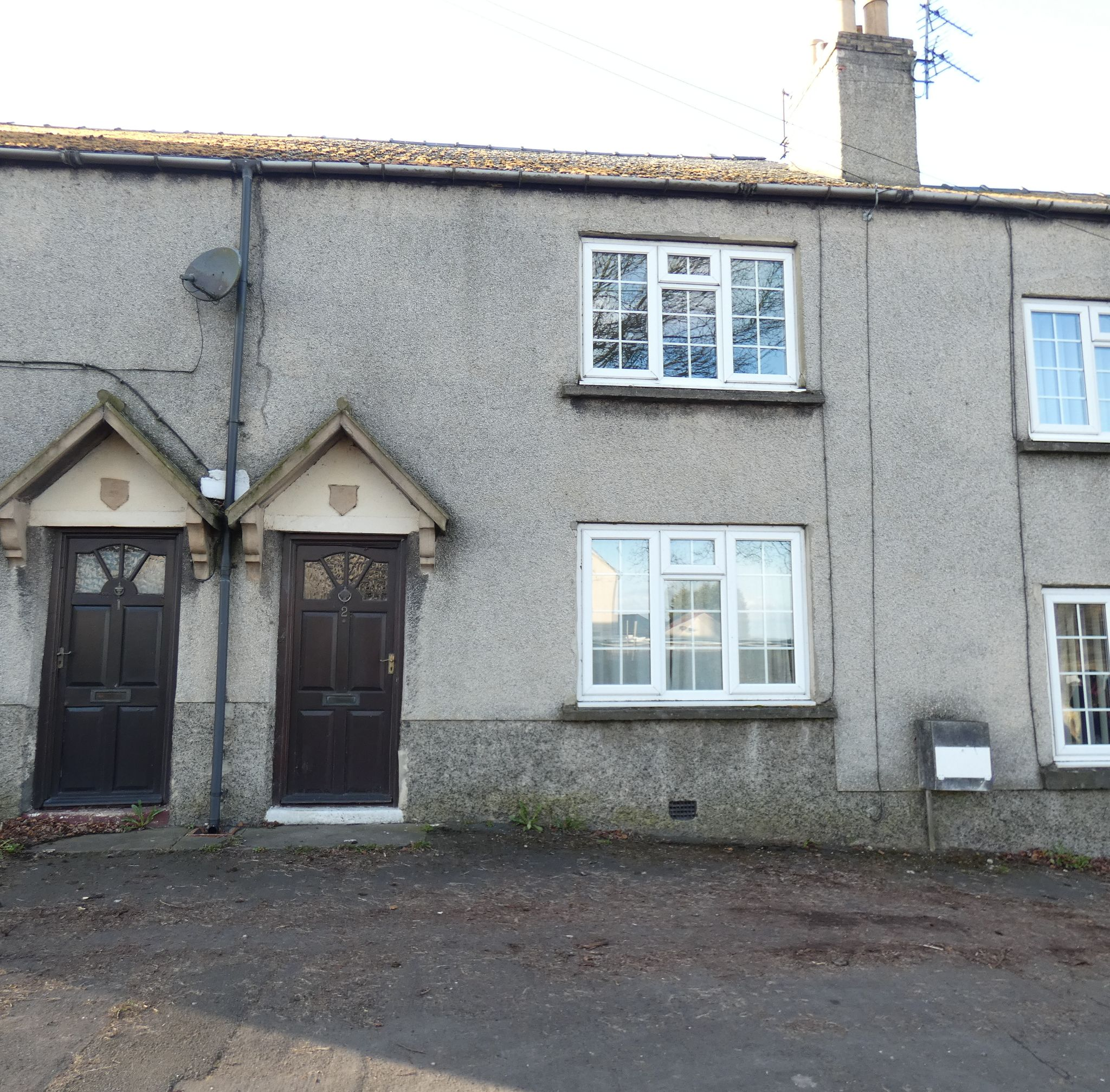 2 bedroom mid terraced house For Sale in Bishop Auckland - Front Elevation.