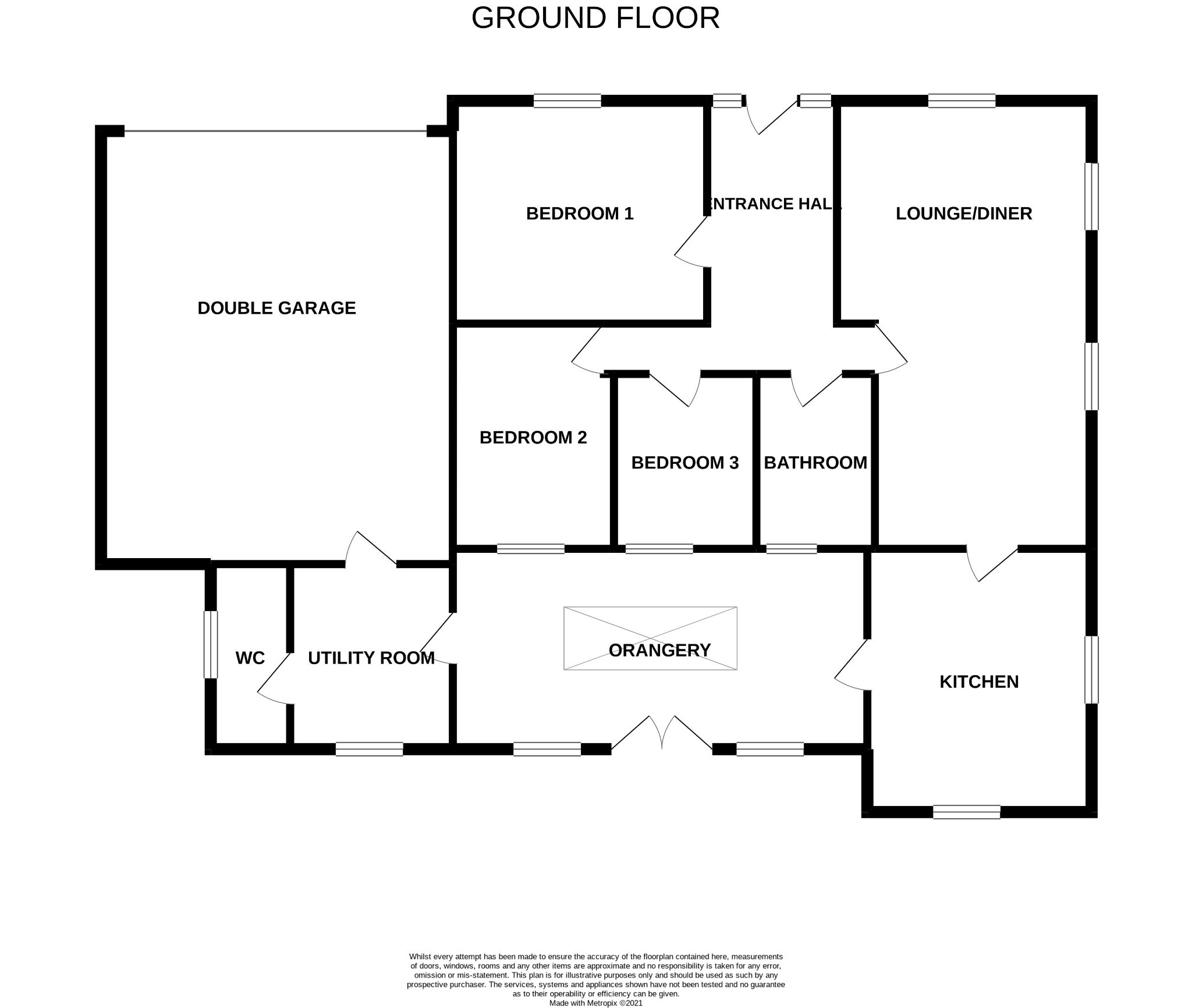 3 bedroom detached bungalow For Sale in Bishop Auckland - Floorplan 1.