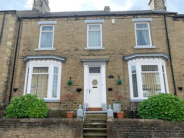 4 bedroom mid terraced house For Sale in Bishop Auckland - Front Elevation.
