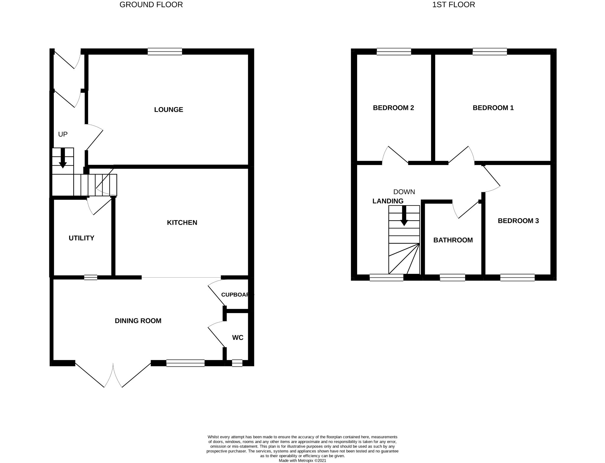 3 bedroom end terraced house Sale Agreed in Butterknowle, Bishop Auckland - Floorplan 1.