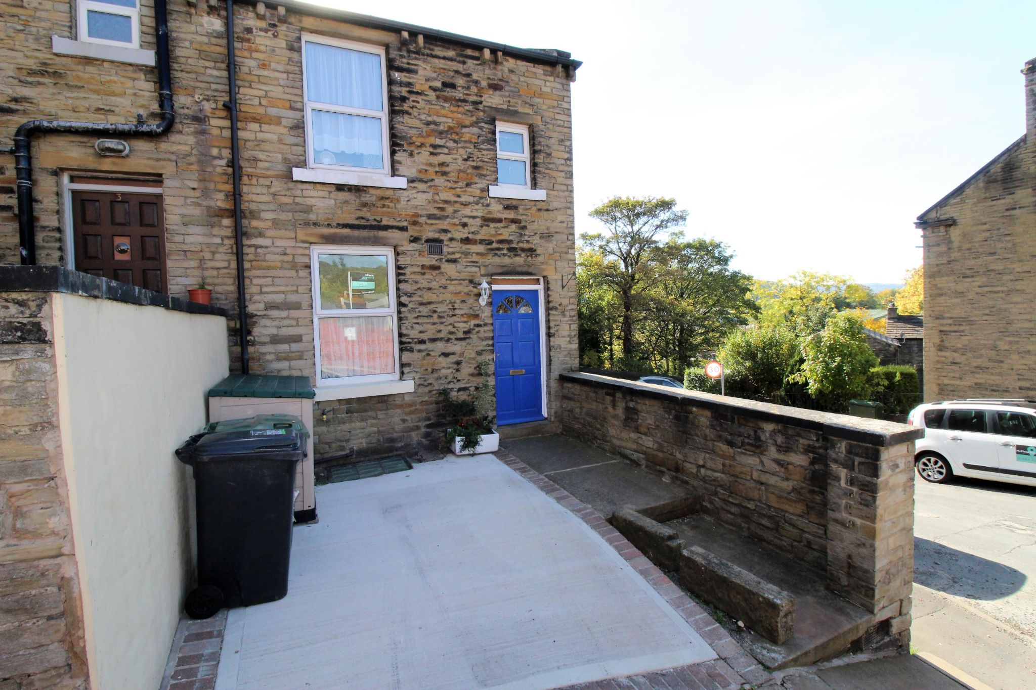 2 bedroom end terraced house For Sale in Brighouse - Rear aspect and parking