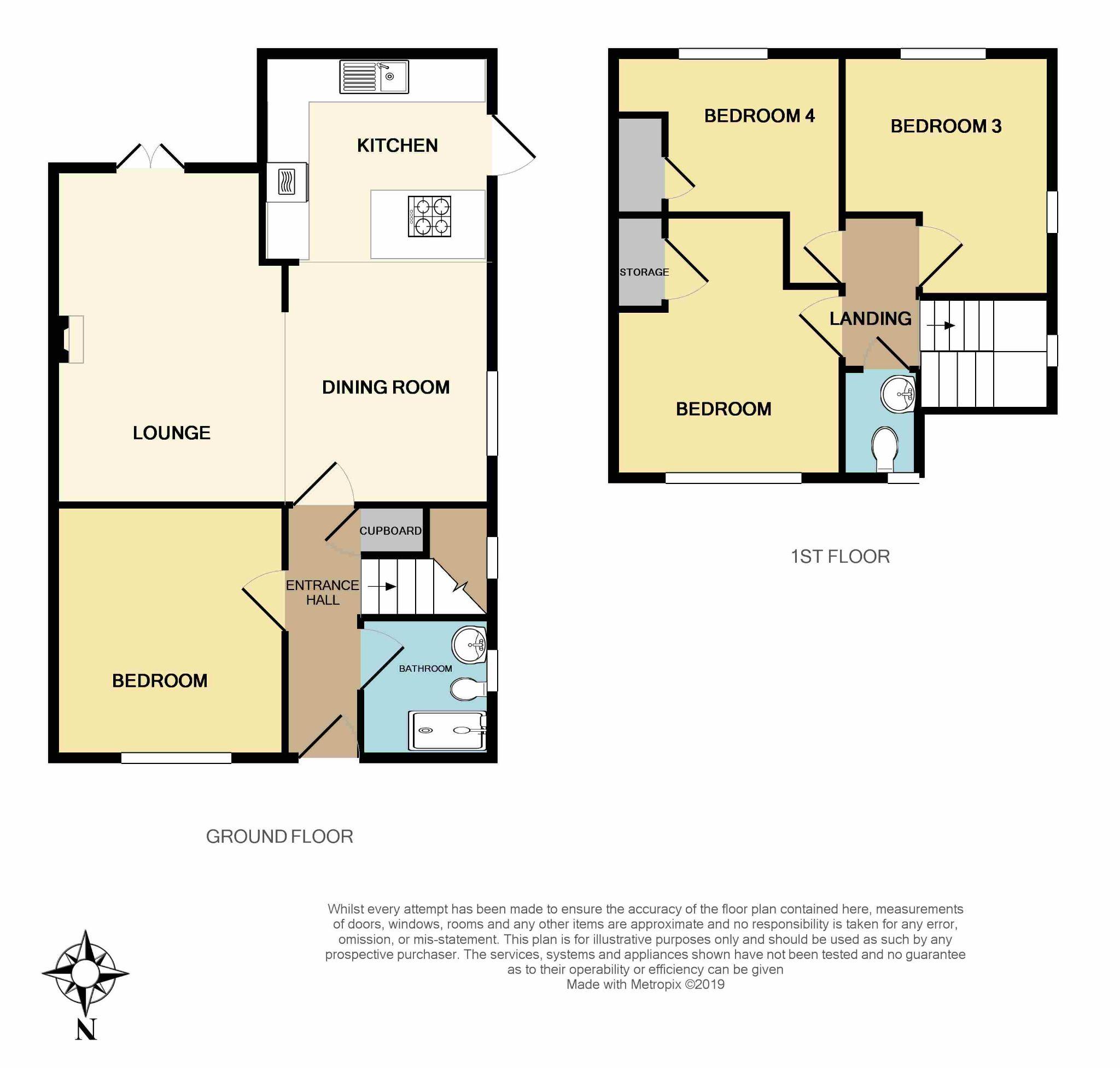 4 bedroom semi-detached bungalow SSTC in Brighouse - Floorplan 2