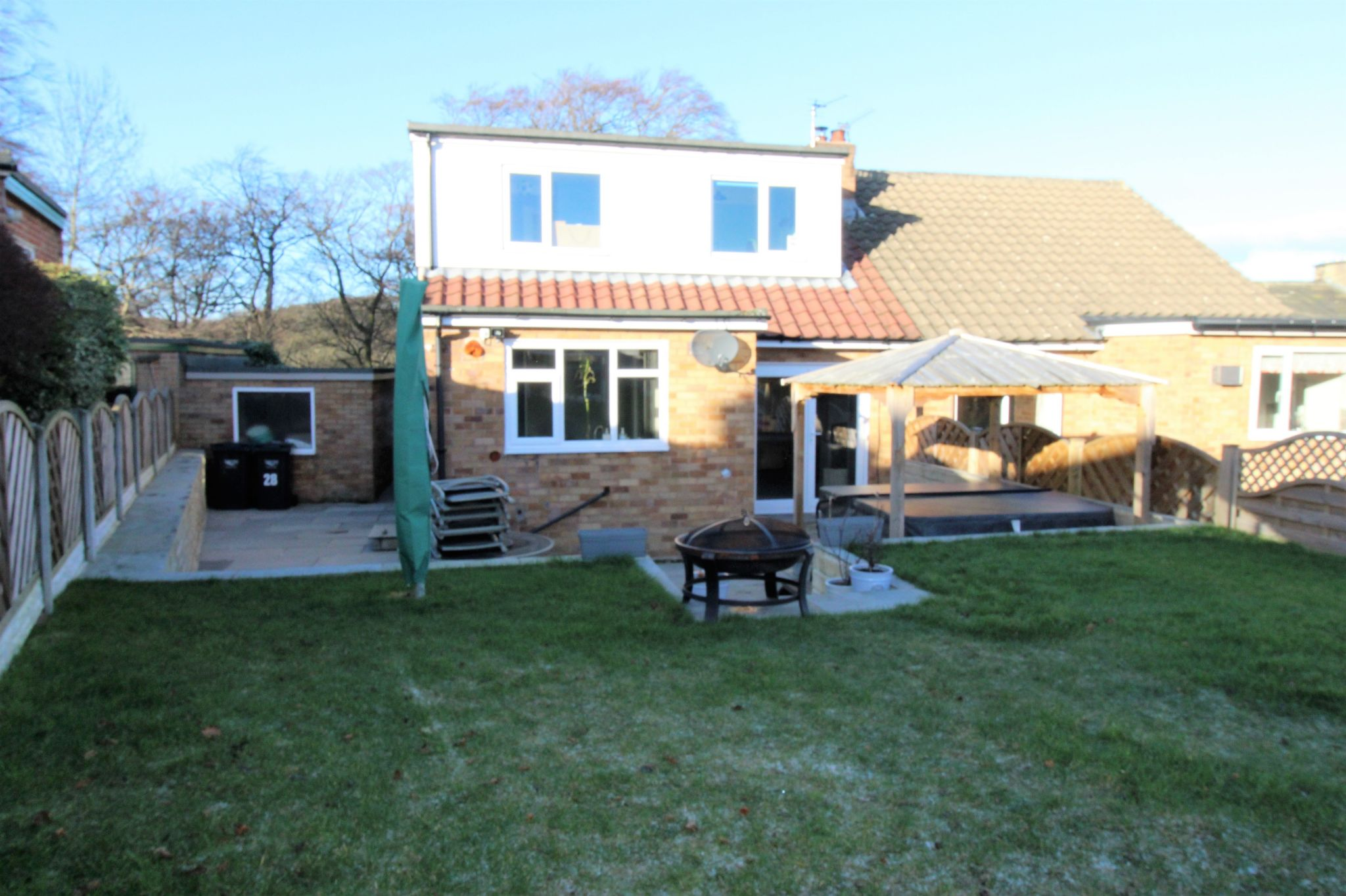 4 bedroom semi-detached bungalow SSTC in Brighouse - Rear aspect