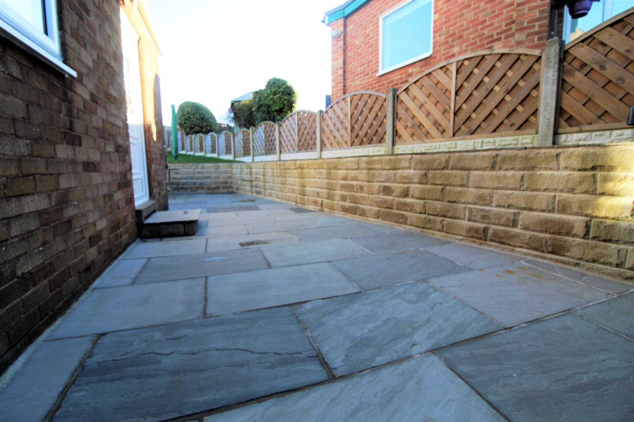 4 bedroom semi-detached bungalow SSTC in Brighouse - Side patio