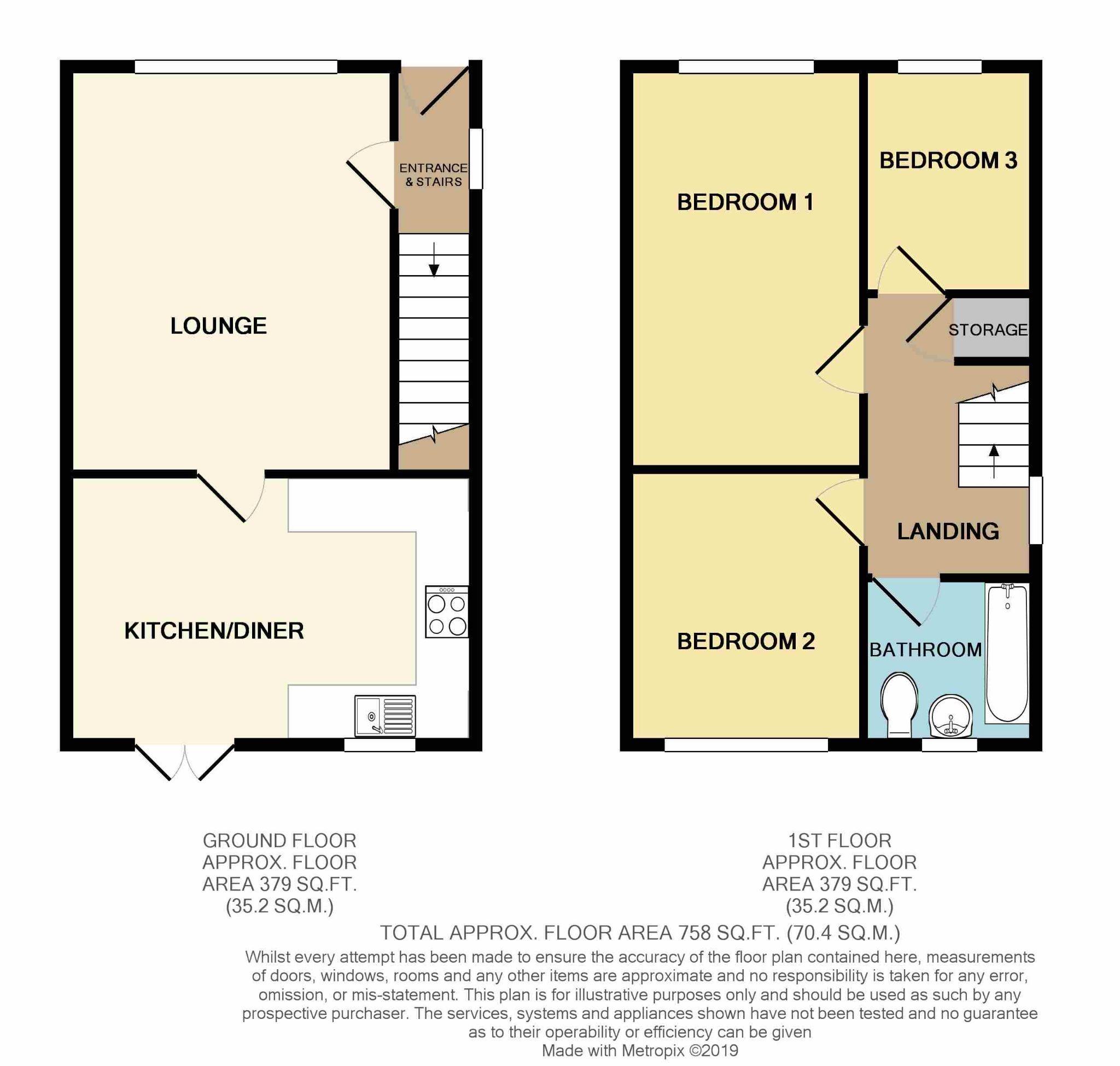3 bedroom semi-detached house SSTC in Shipley - Floorplan 1