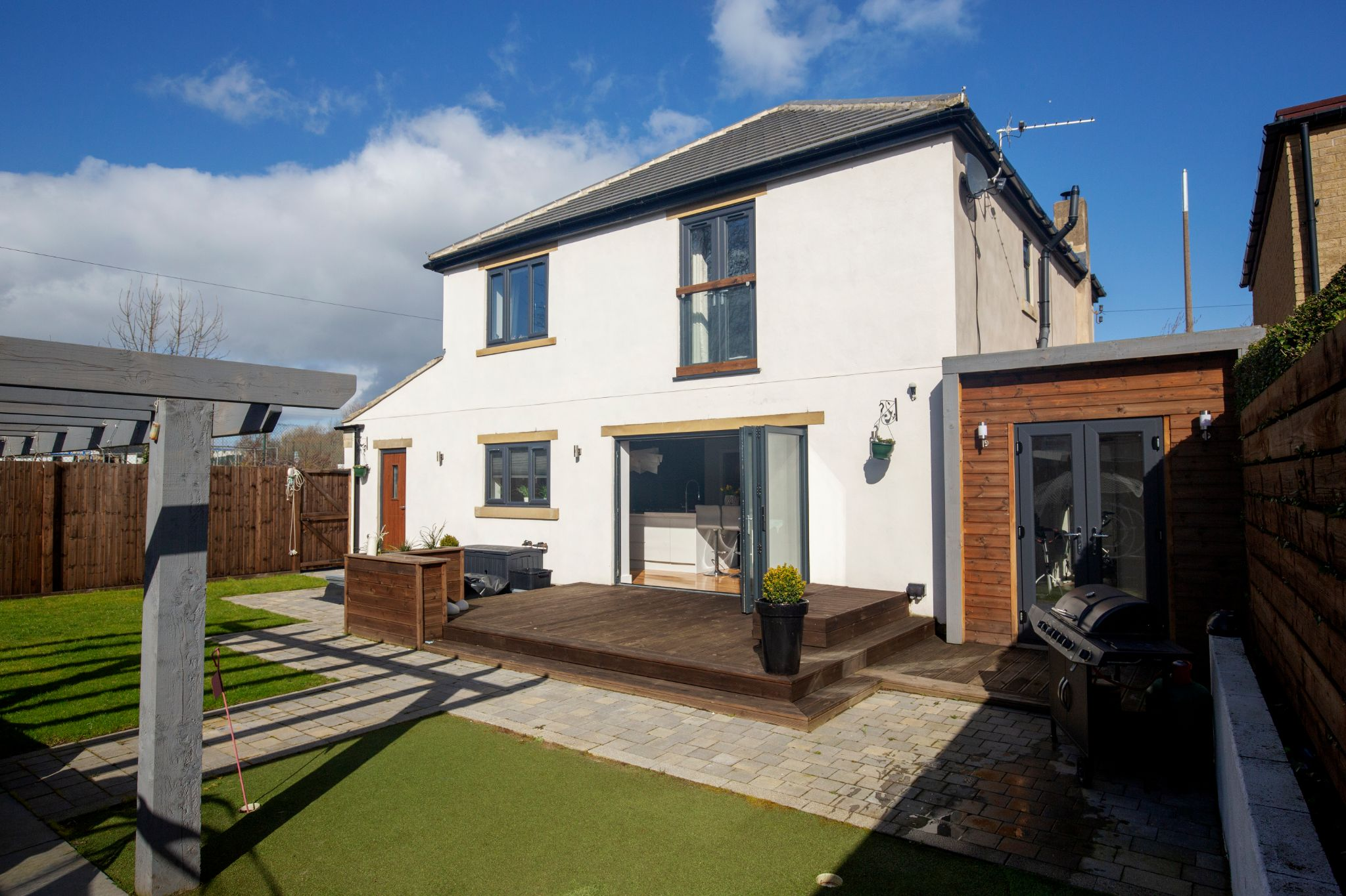 4 bedroom detached house For Sale in Brighouse - Rear elevation and garden