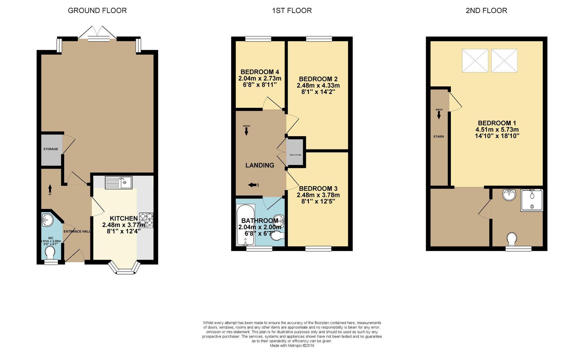 4 bedroom semi-detached house For Sale in Halifax - Floorplan 1