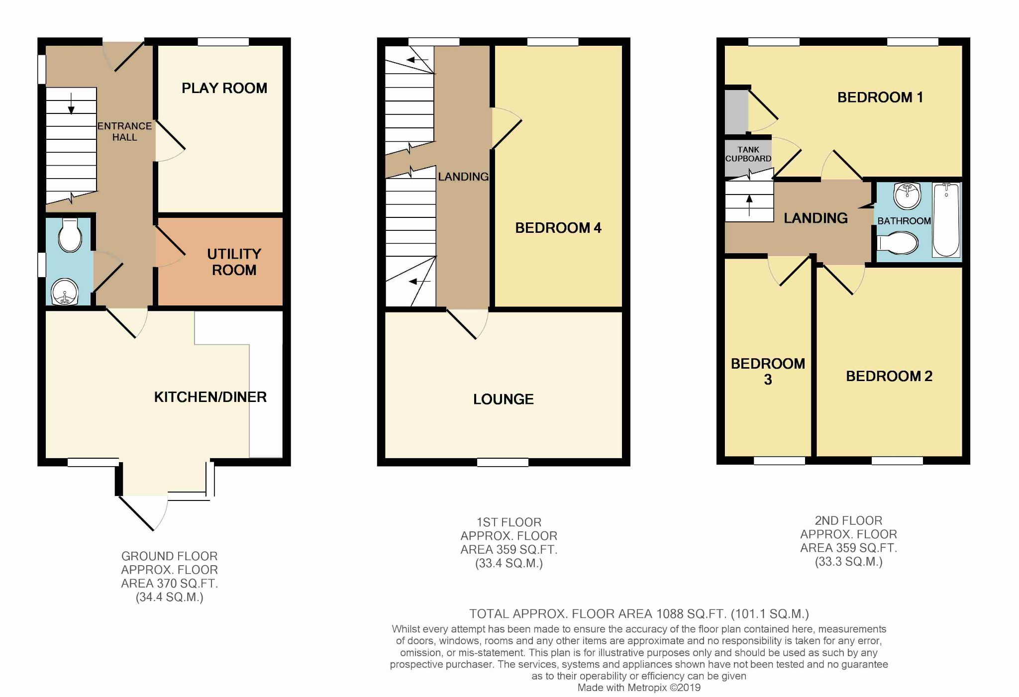 4 bedroom semi-detached house For Sale in Brighouse - Floorplan 2