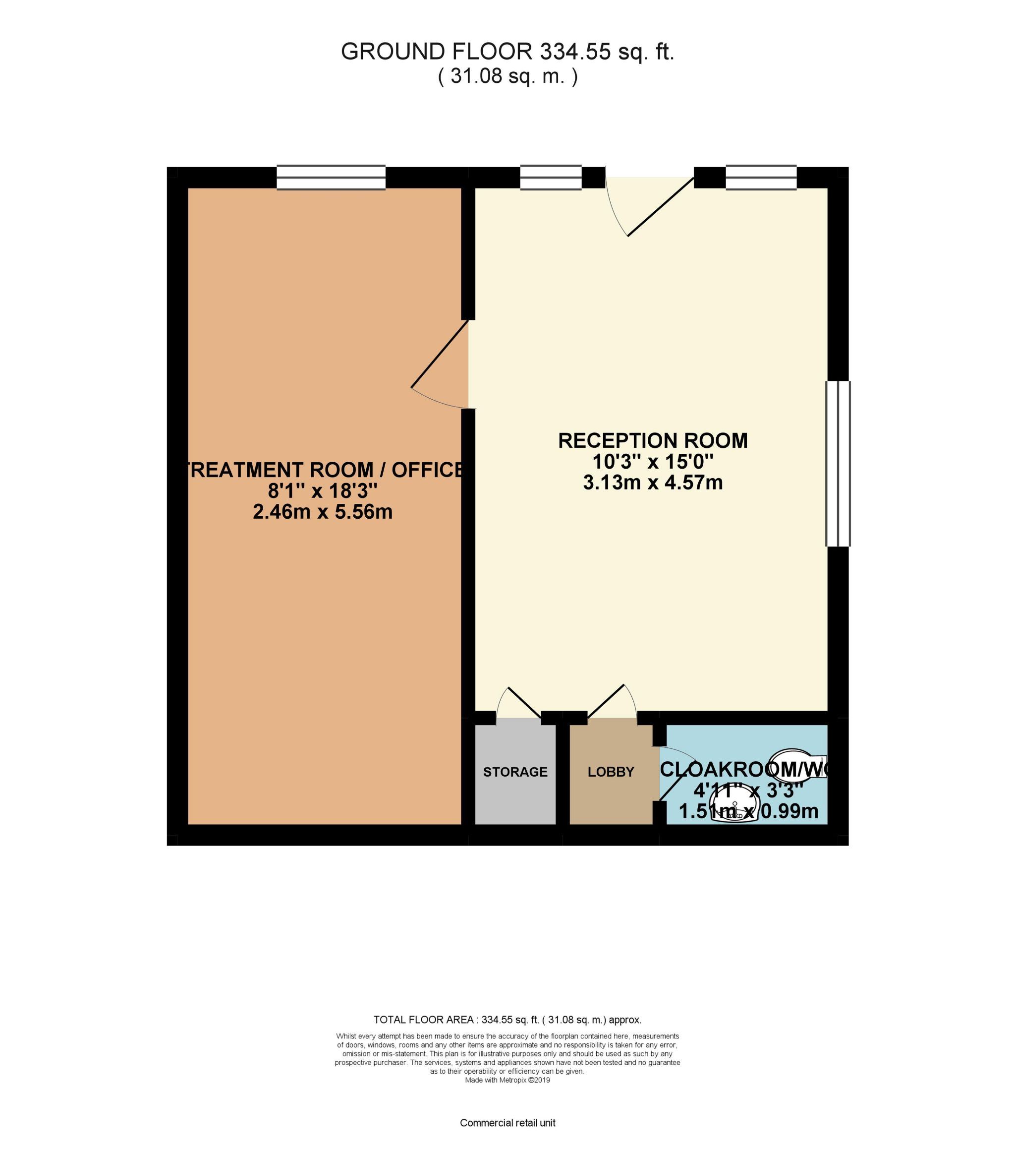 Office To Let in Brighouse - Floorplan 1