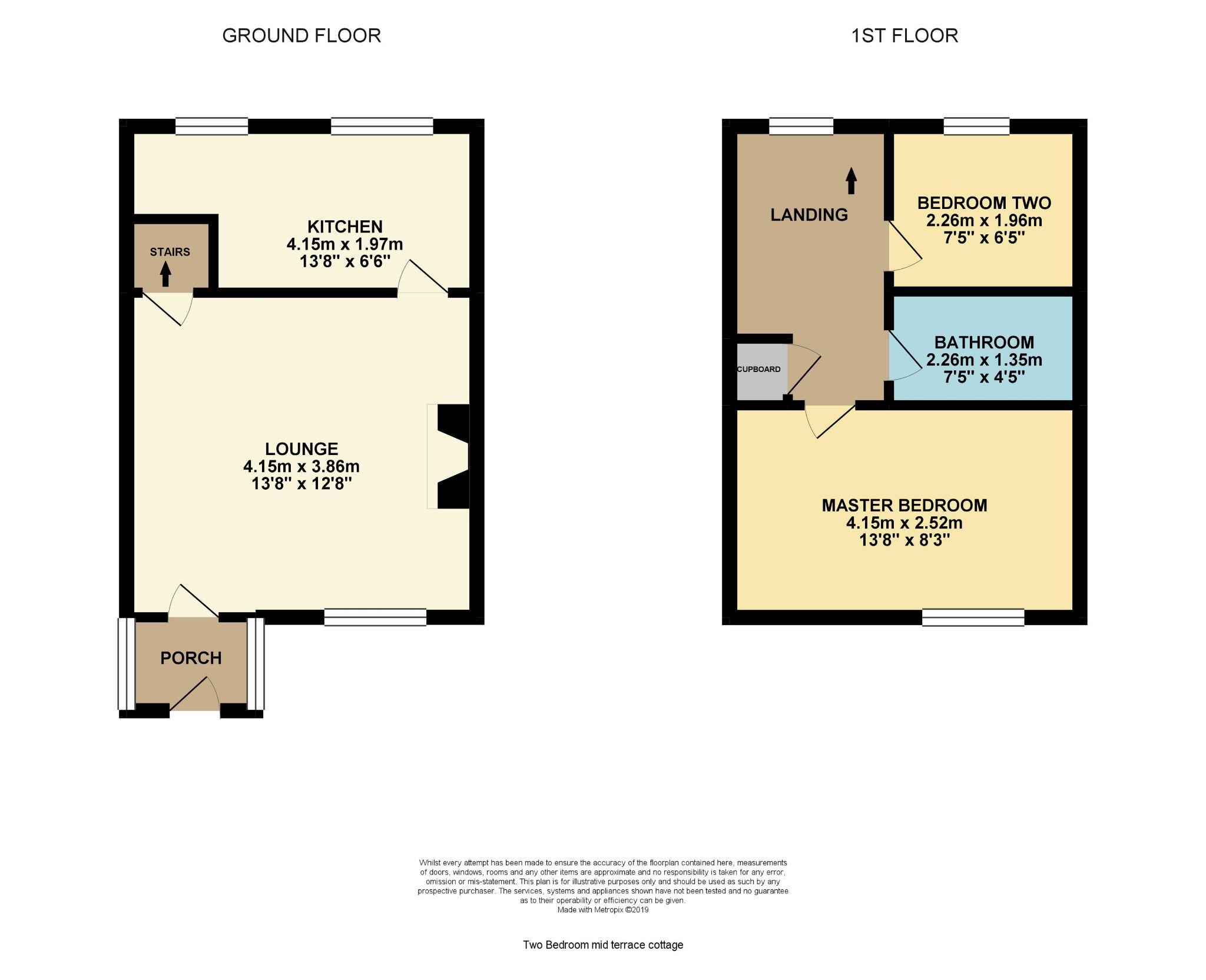 2 bedroom cottage house Reserved in Wakefield - Floorplan 2