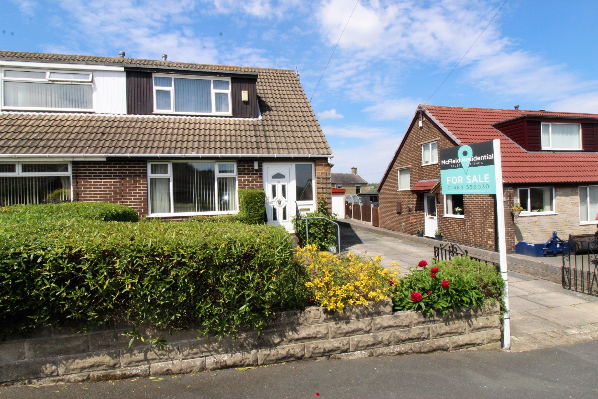 2 bedroom semi-detached bungalow For Sale in Bradford - Front aspect