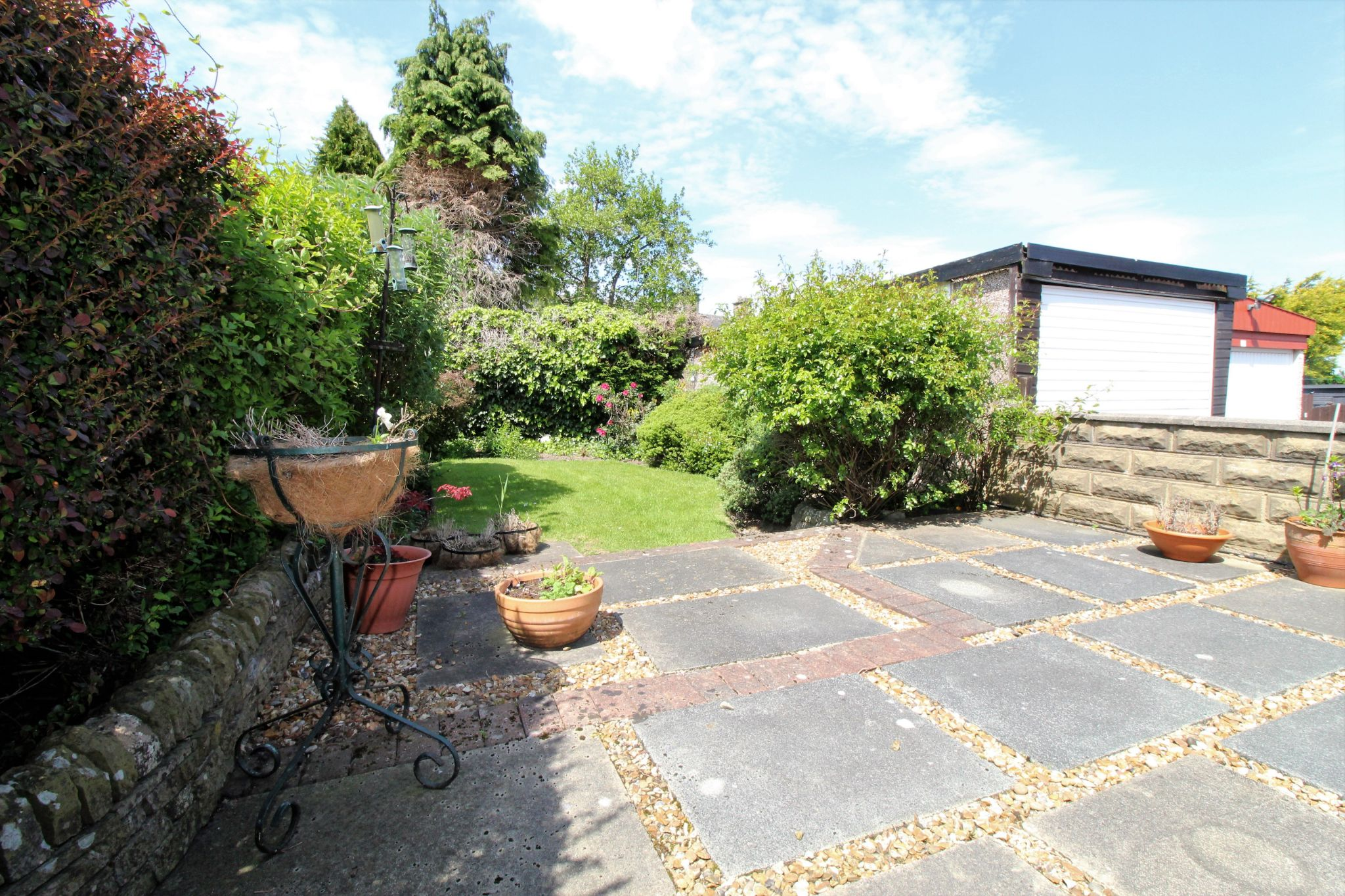 2 bedroom semi-detached bungalow SSTC in Bradford - Rear garden and patio