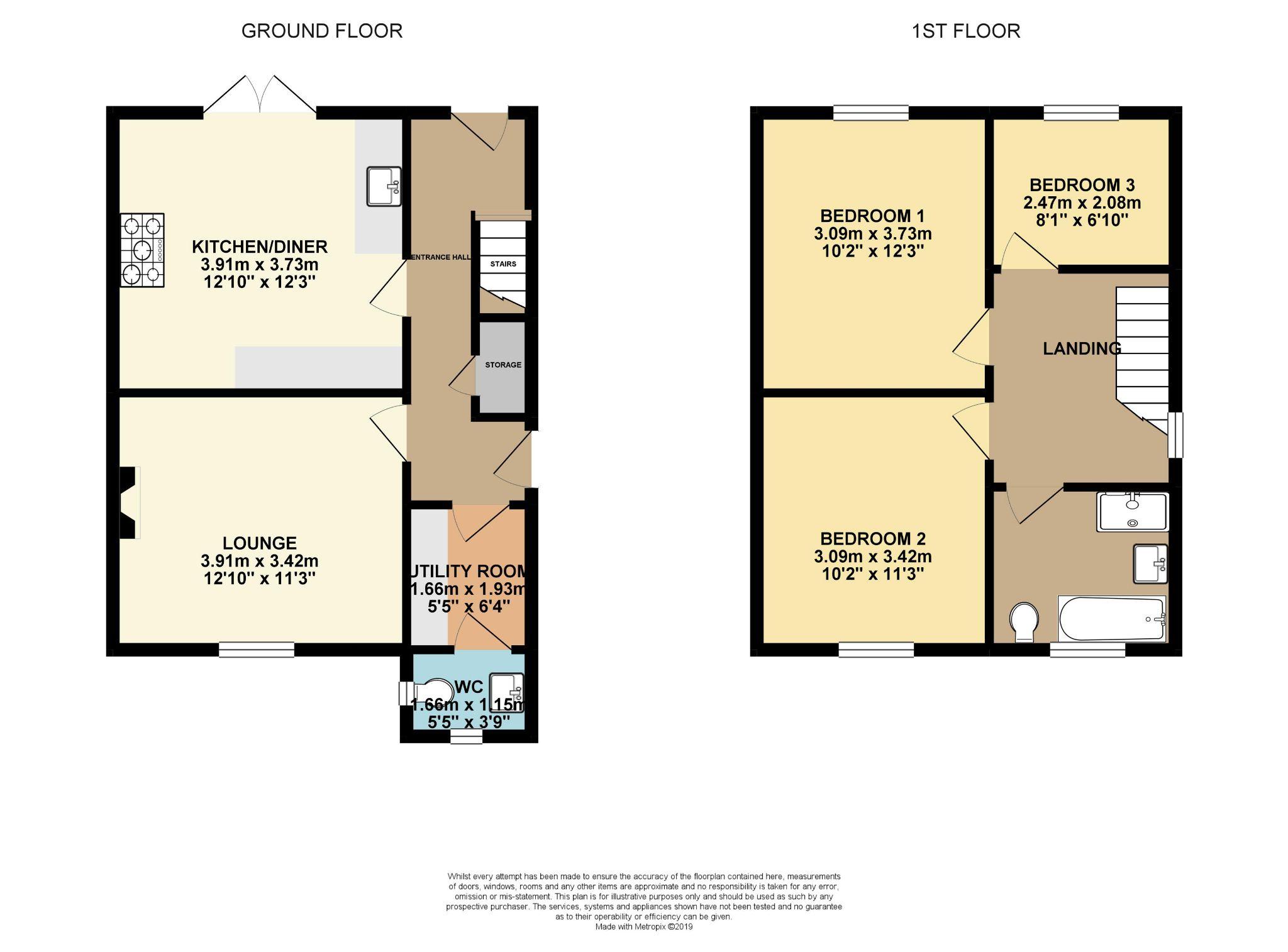 3 bedroom town house SSTC in Halifax - Floorplan 1
