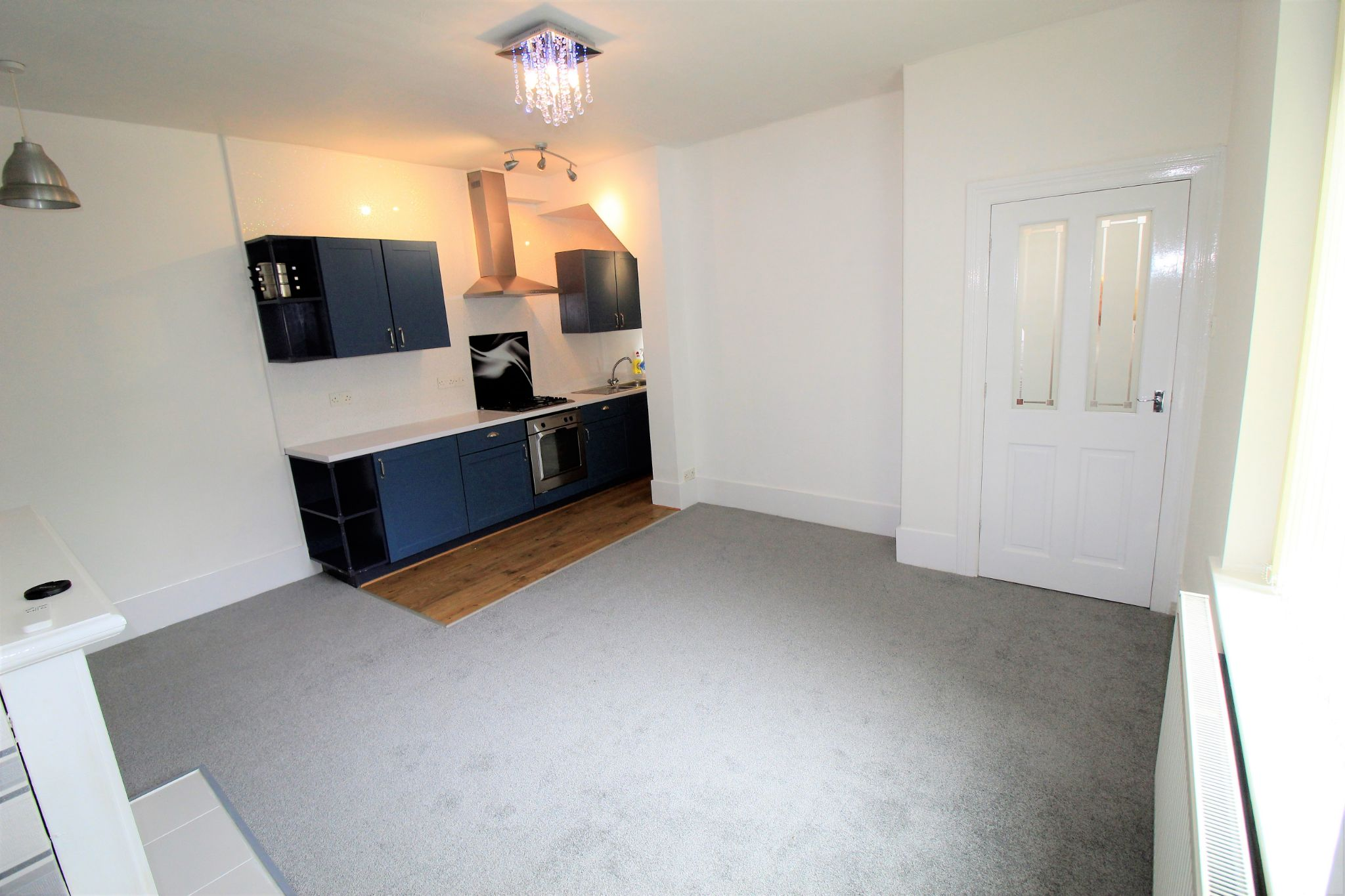 2 bedroom semi-detached house For Sale in Huddersfield - Lounge / kitchen area