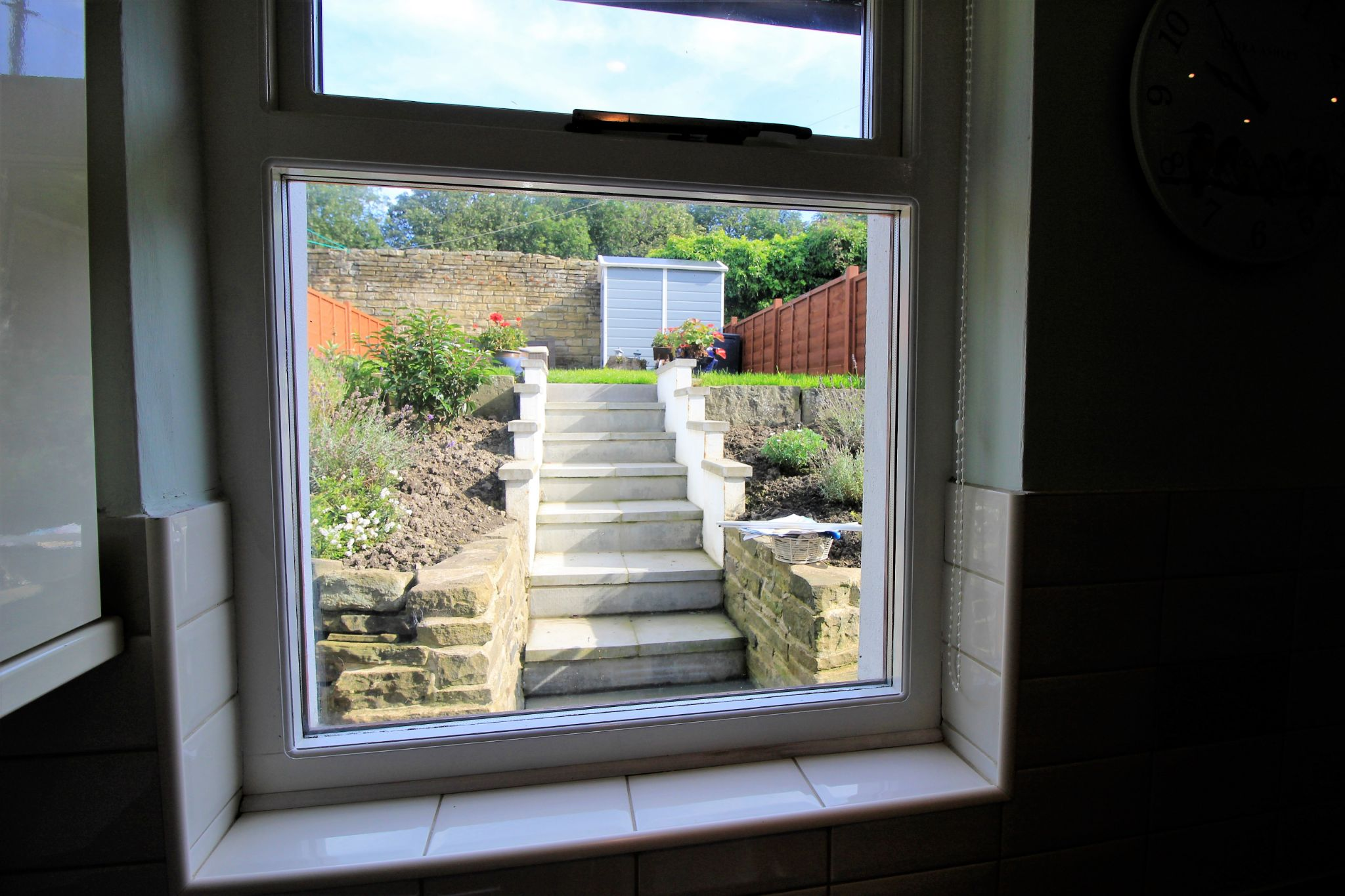 2 bedroom cottage house SSTC in Huddersfield - View from the kitchen window