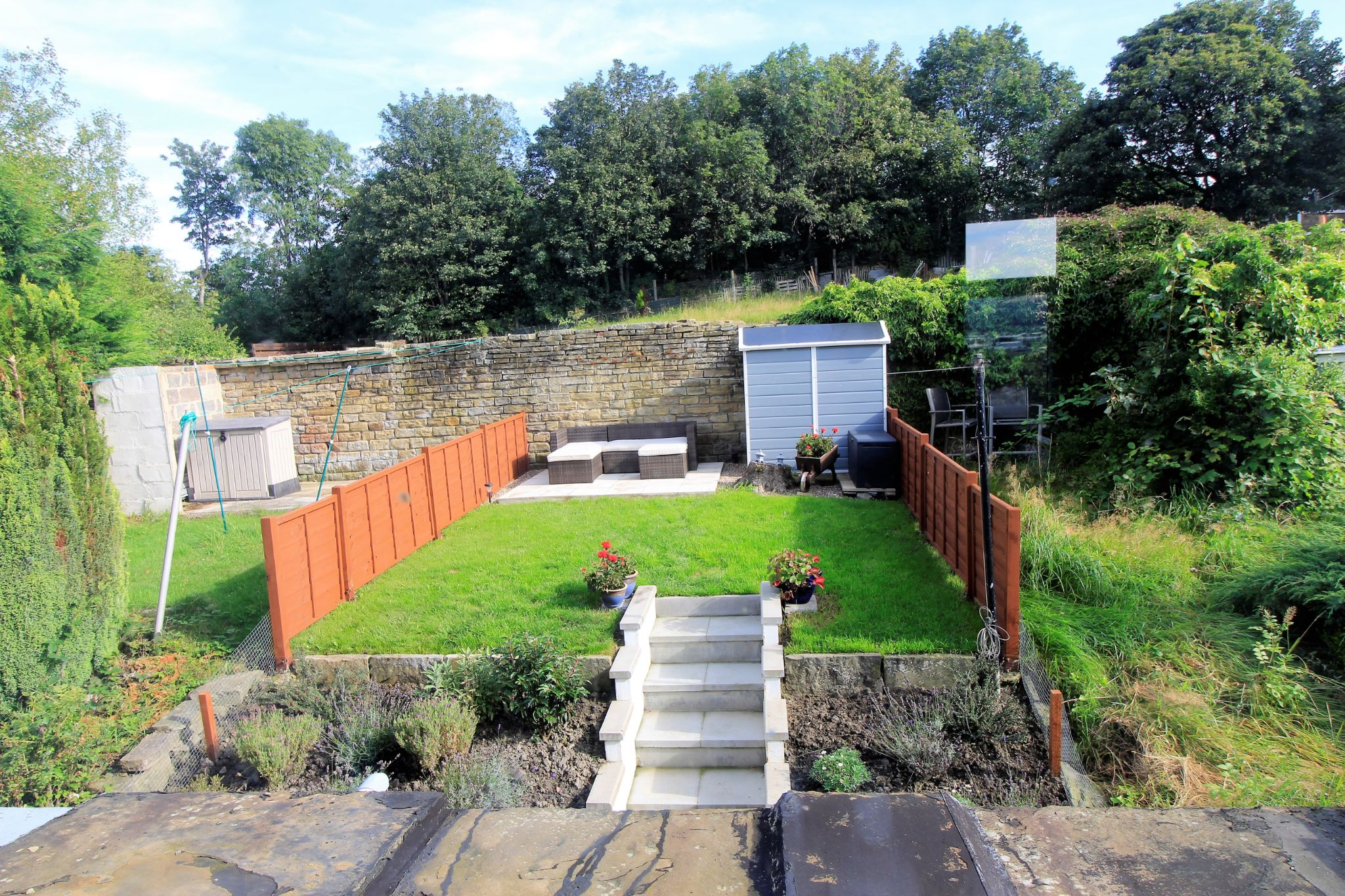 2 bedroom cottage house SSTC in Huddersfield - View from the landing window