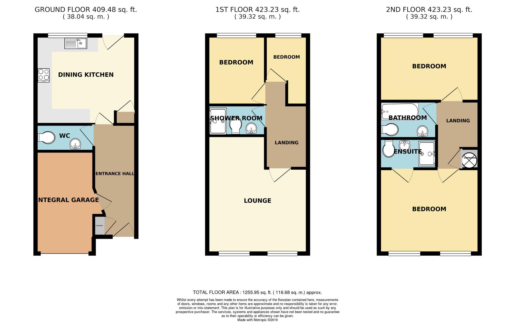 4 bedroom mid terraced house SSTC in Brighouse - Floorplan 1