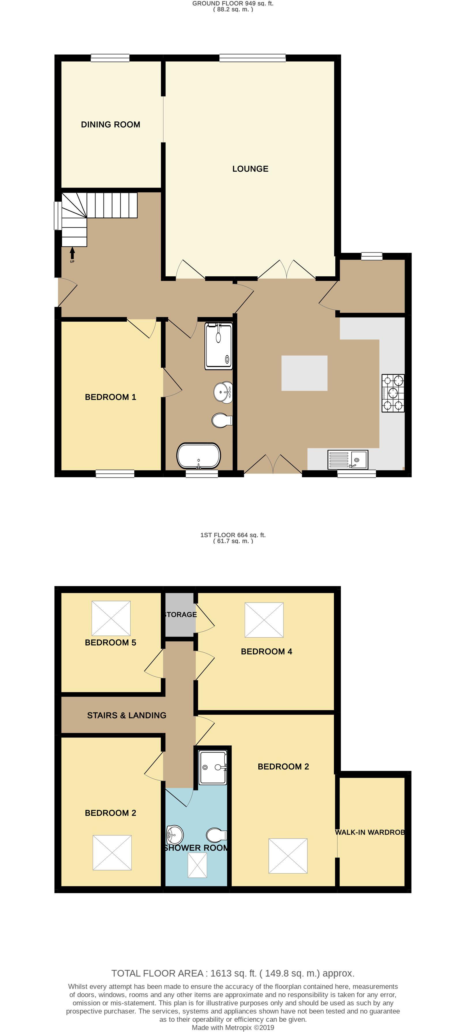 5 bedroom detached house SSTC in Brighouse - Floorplan 1