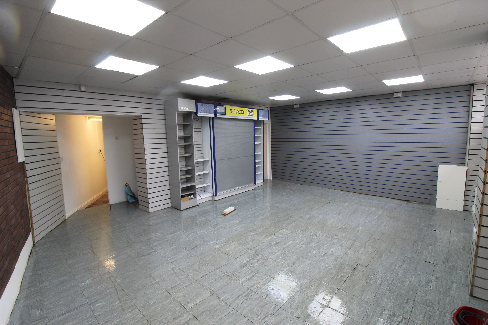 Empty Retail Premises To Let in Huddersfield - retail area view from entrance door