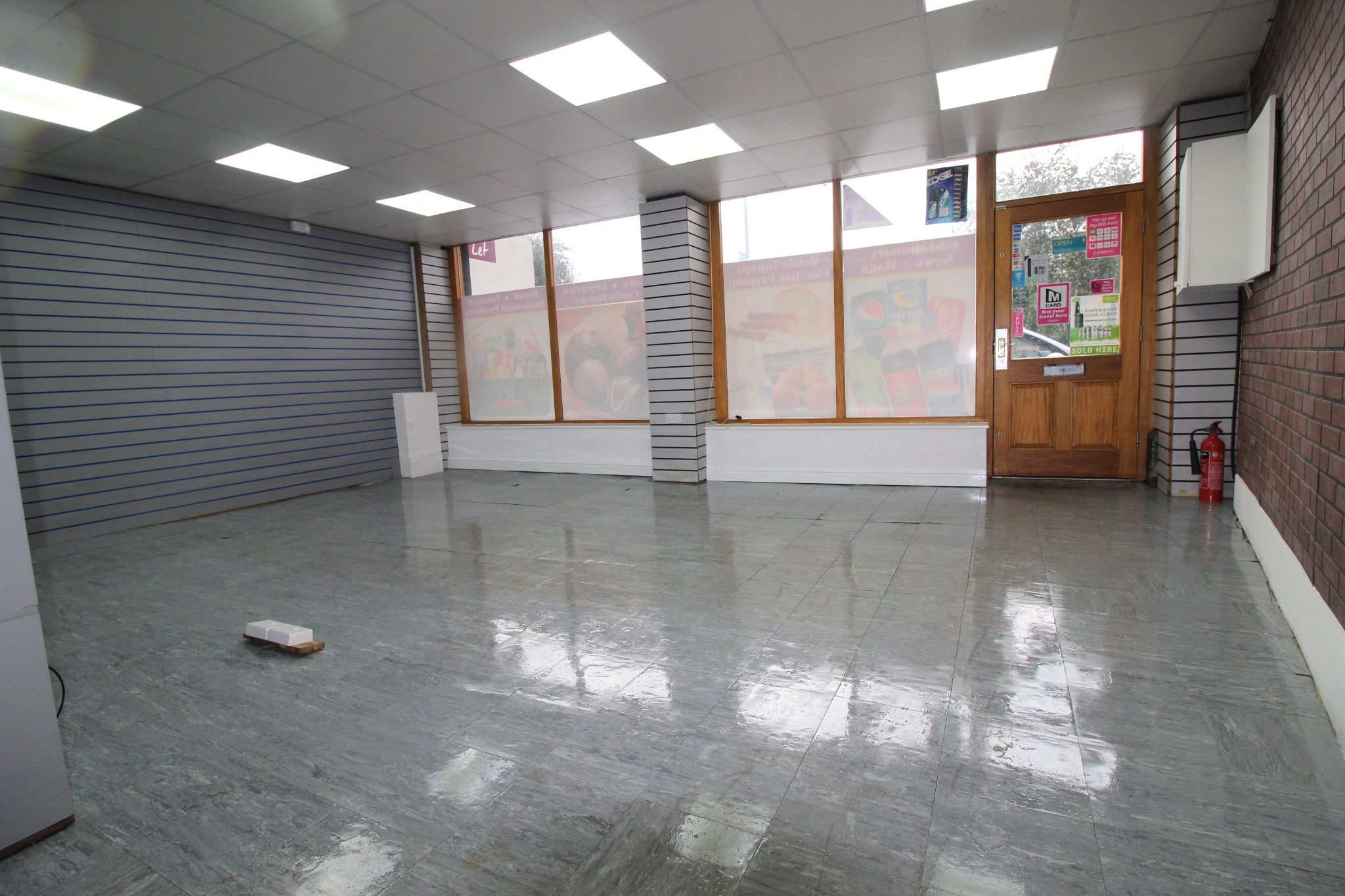 Empty Retail Premises To Let in Huddersfield - View from the rear of shop by wash room