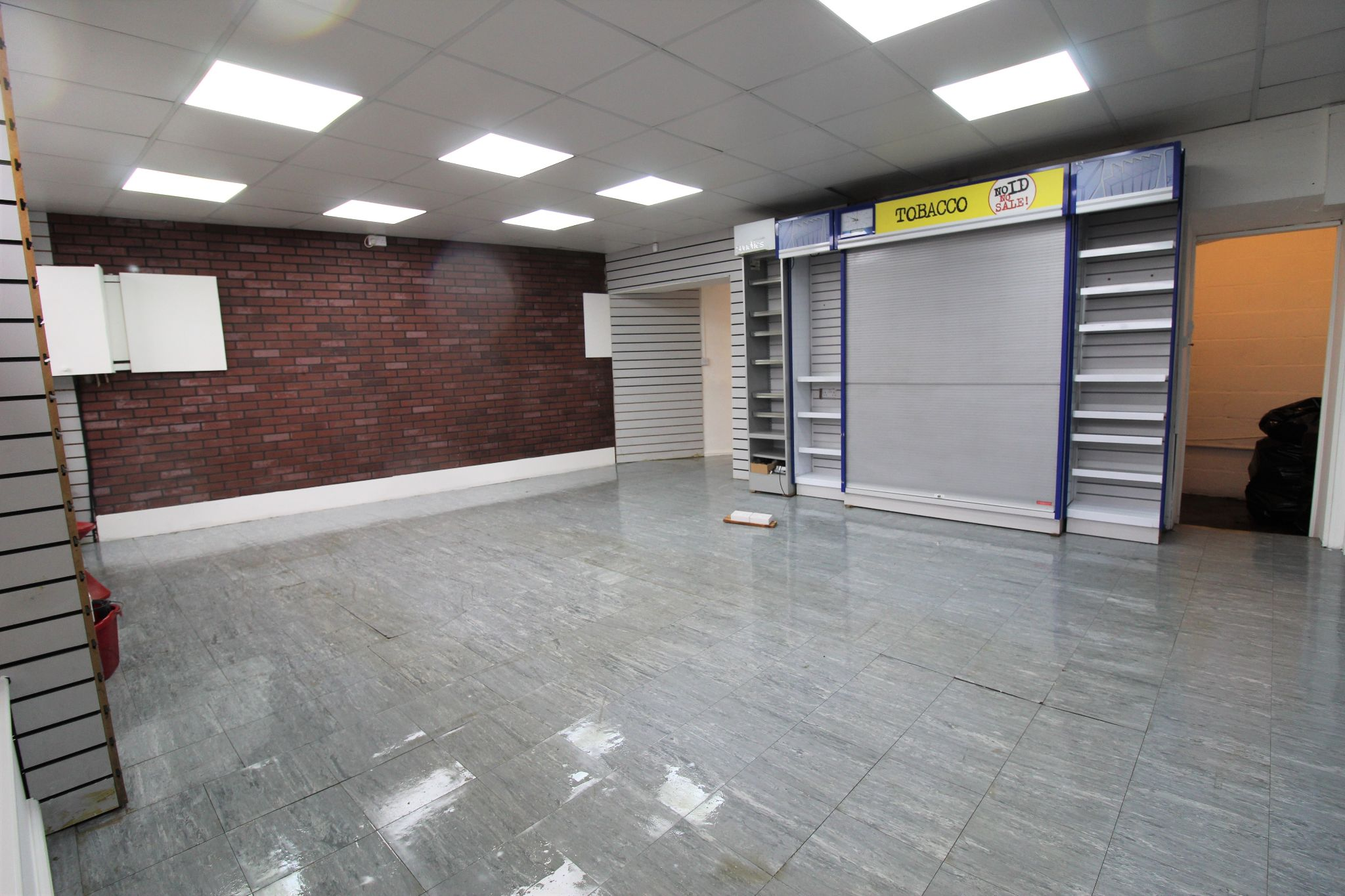 Empty Retail Premises To Let in Huddersfield - view from front right of shop